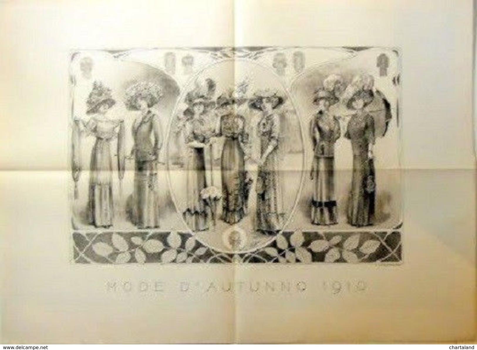 Stampa Litografia Moda Donna Figurino - Mode D' Autunno - 1910 - Stampe & Incisioni
