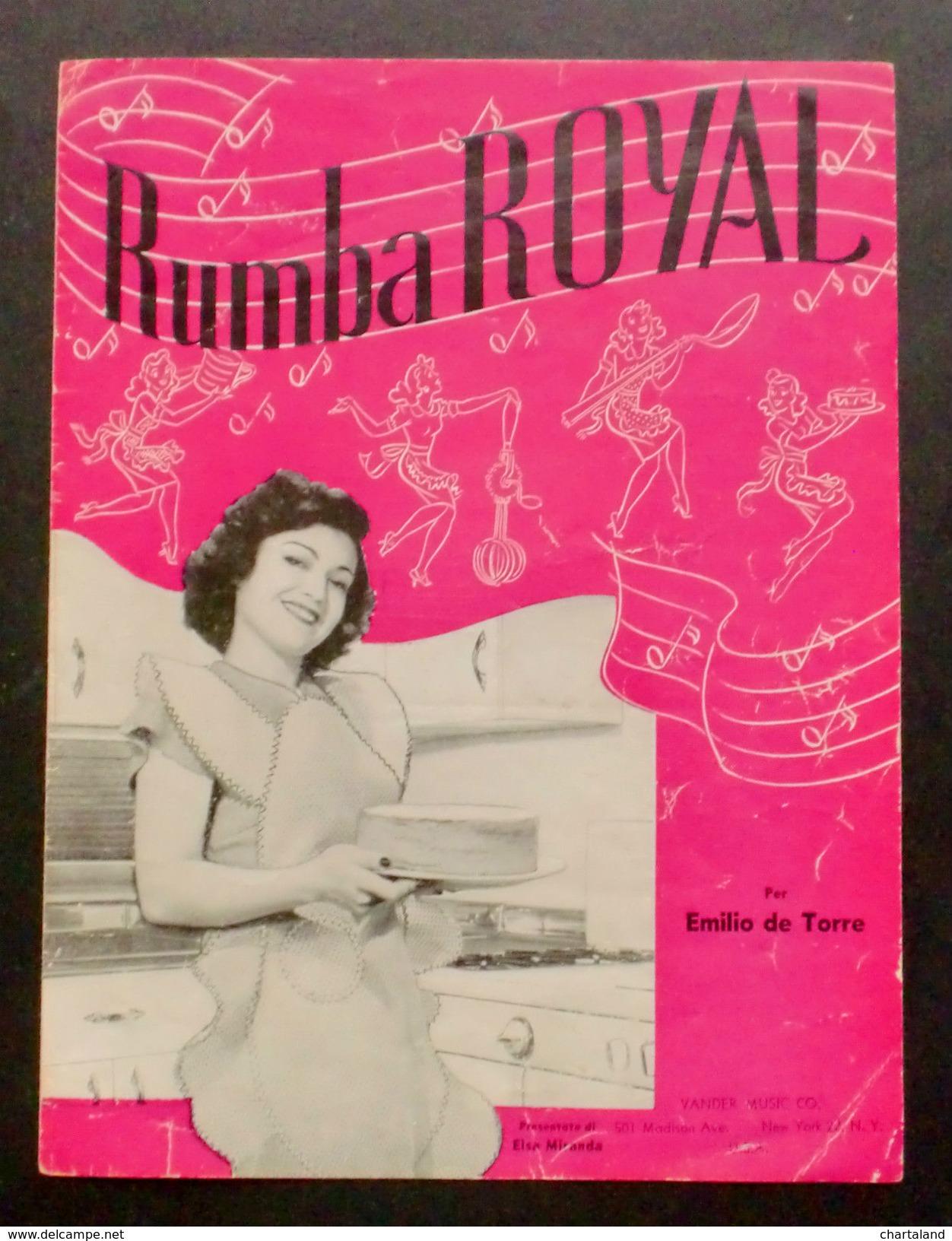 Musica Spartito - Rumba Royal - Emilio De Torre - Pianoforte E Canto - 1947 - Vecchi Documenti