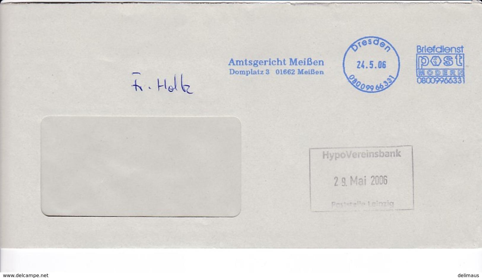 BRD Neue Privatpost 2006 Post Modern Dresden Amtsgericht Meißen - Private & Local Mails
