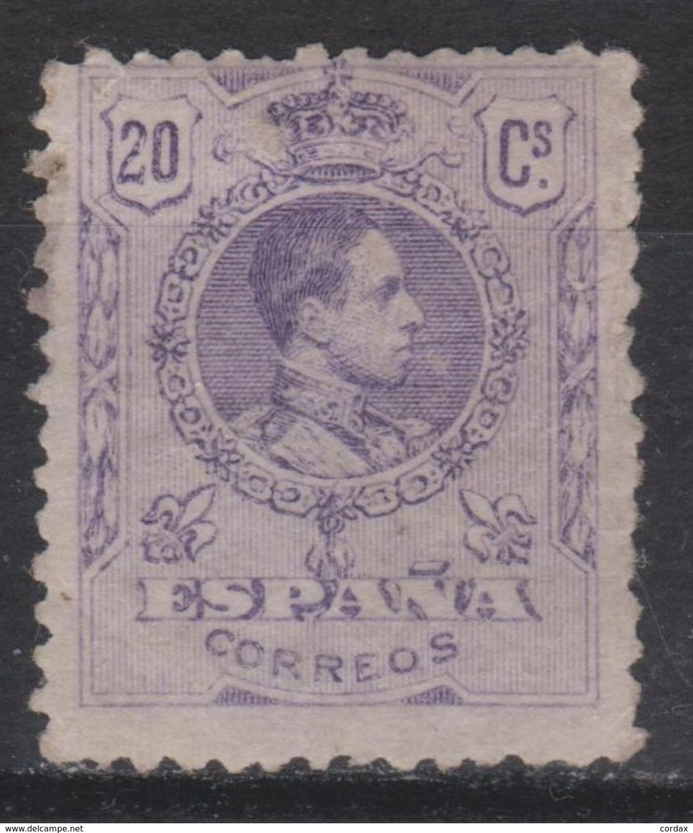 1909. ALFONSO XII MEDALLÓN. 20 CTS NUEVO* VER. 62 € - Nuevos