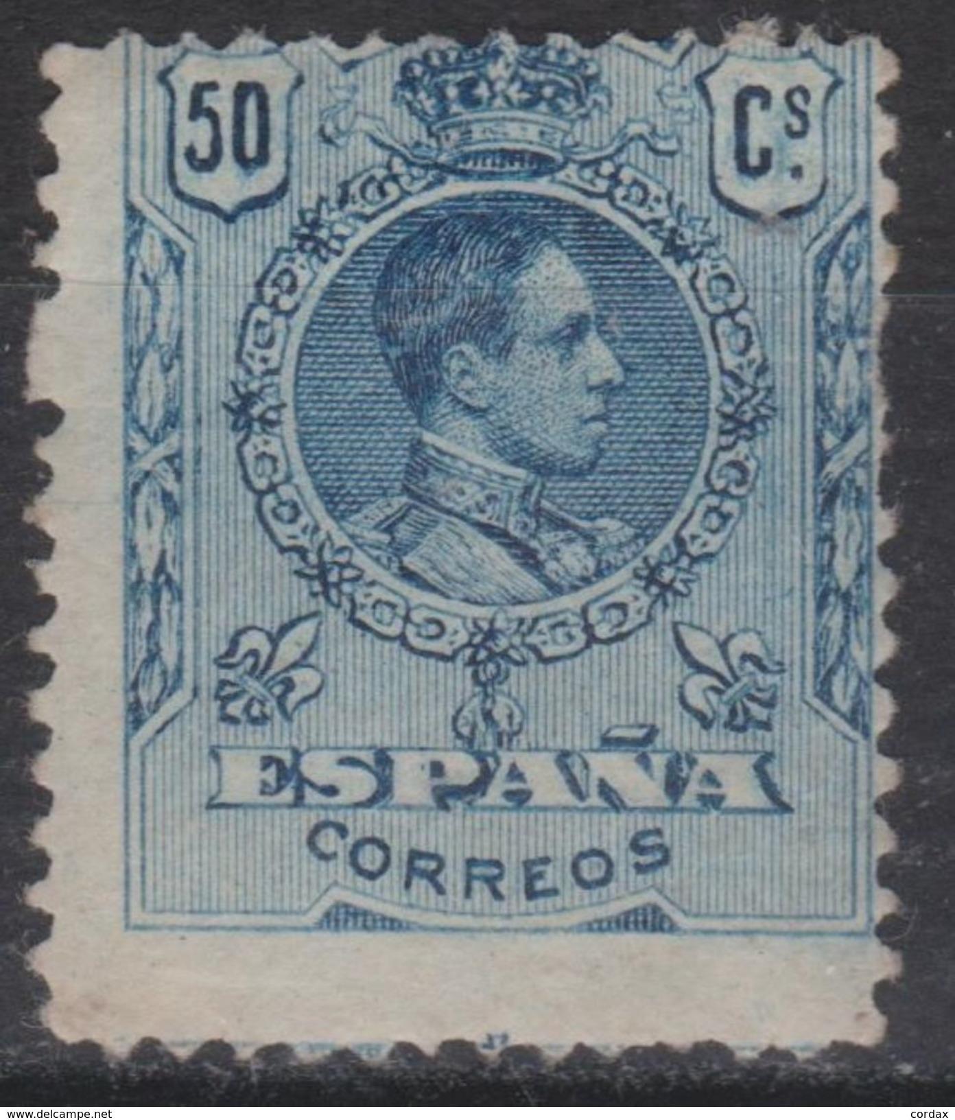 1909. ALFONSO XII MEDALLÓN. 50 CTS NUEVO* VER. 19,5 € - 1889-1931 Reino: Alfonso XIII