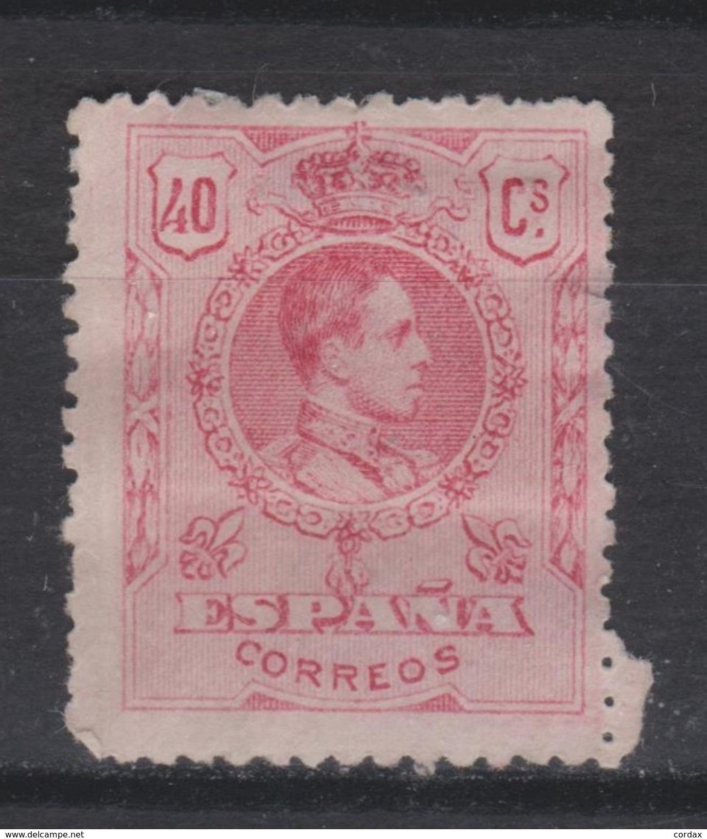 1909. ALFONSO XII MEDALLÓN. 40 CTS NUEVO* VER. 24,5 € - 1889-1931 Reino: Alfonso XIII