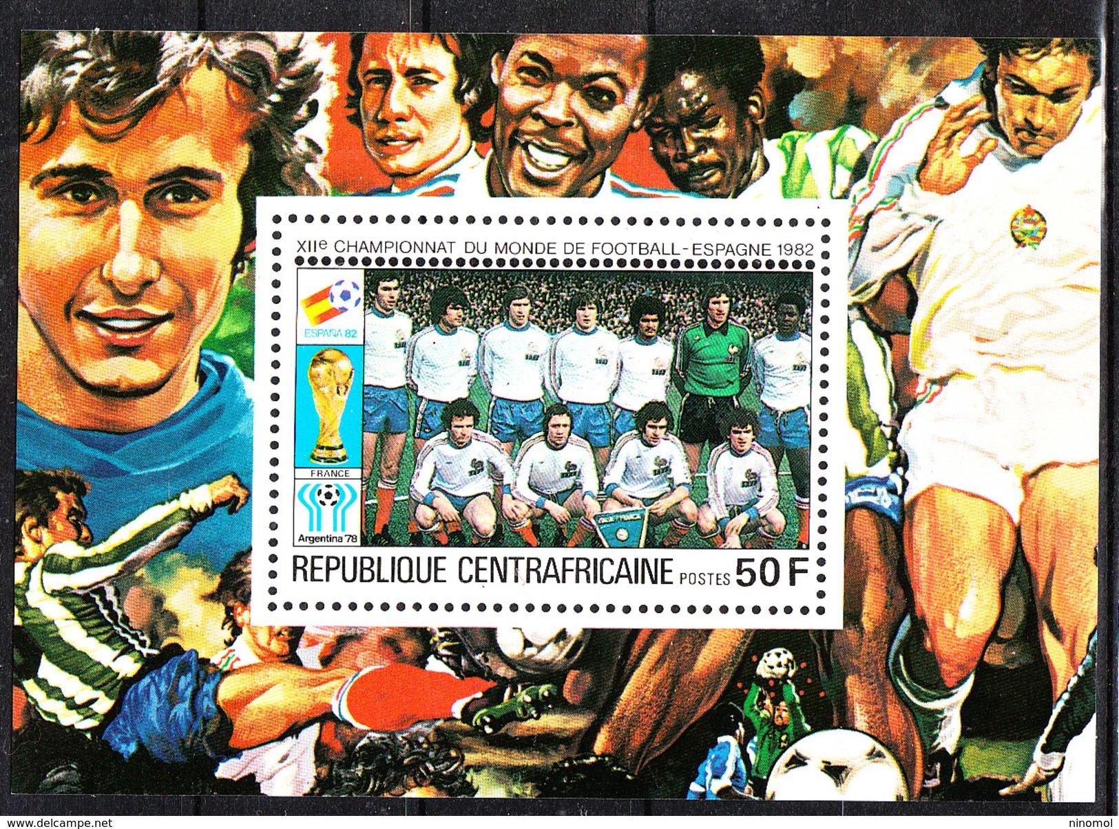 Rep. Central African   -   1981.  Francia Team. BF MNH Rare - 1982 – Espagne