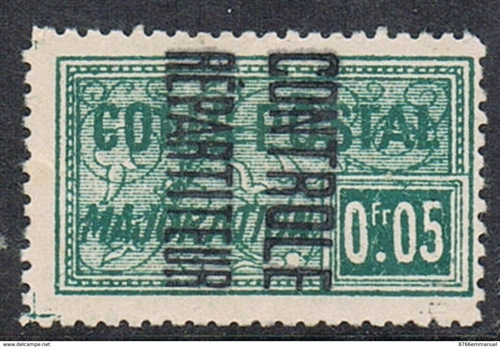 ALGERIE COLIS POSTAL N°10 N*   Variété Surcharge Renversée - Algérie (1924-1962)