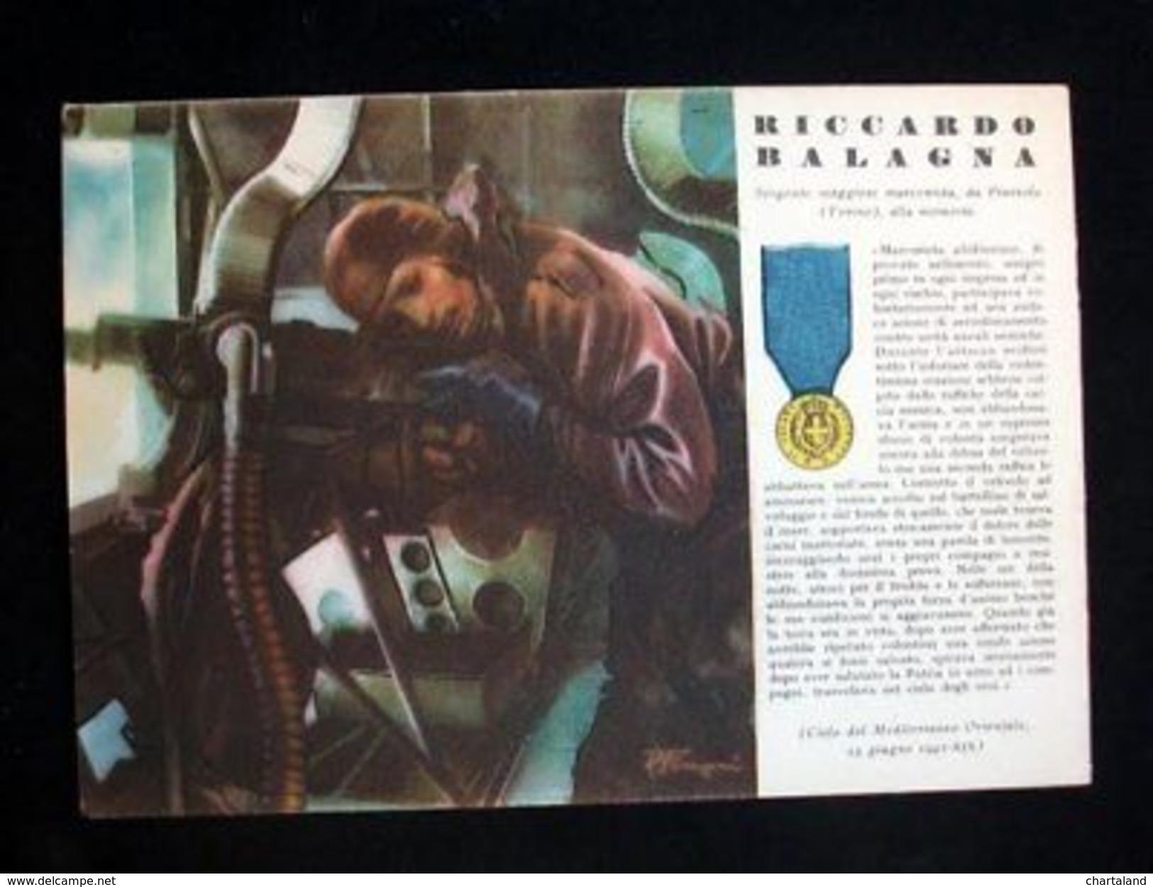 WWII Cartolina - Medaglie D' Oro Guerra 1941 - Balagna - Militari