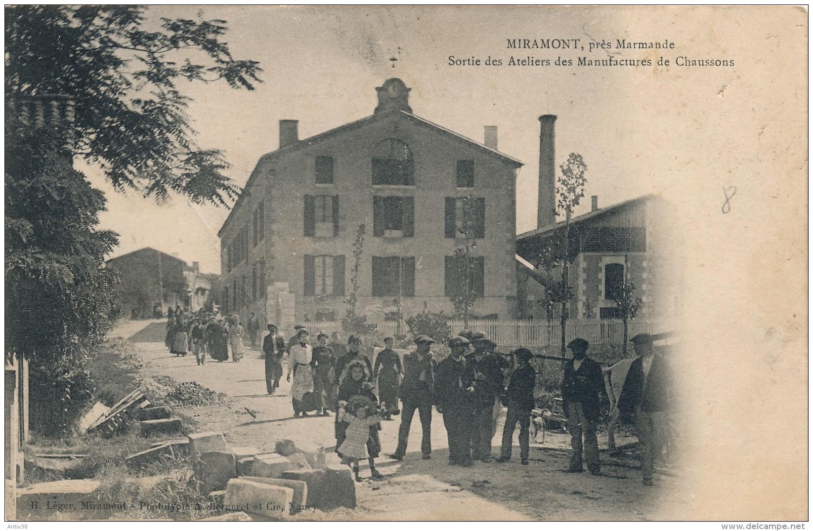 G152 - 47 - MIRAMONT - Lot-et-Garonne - Sortie Des Ateliers Des Manufactures De Chaussons - Autres Communes