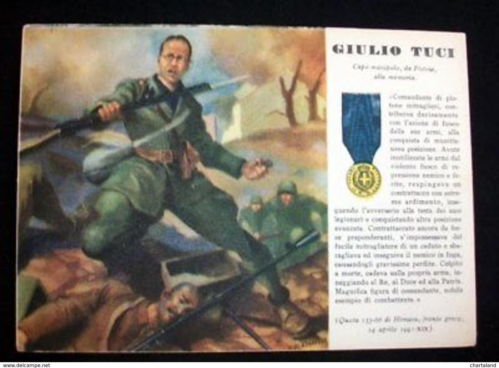 WWII Cartolina - Medaglie D' Oro Guerra 1941 - Tuci - Militari