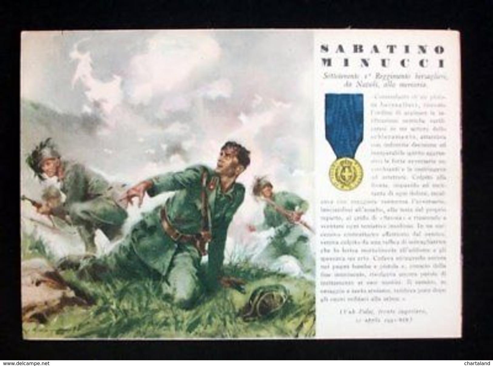 WWII Cartolina - Medaglie D' Oro Guerra 1941 - Minucci - Militari