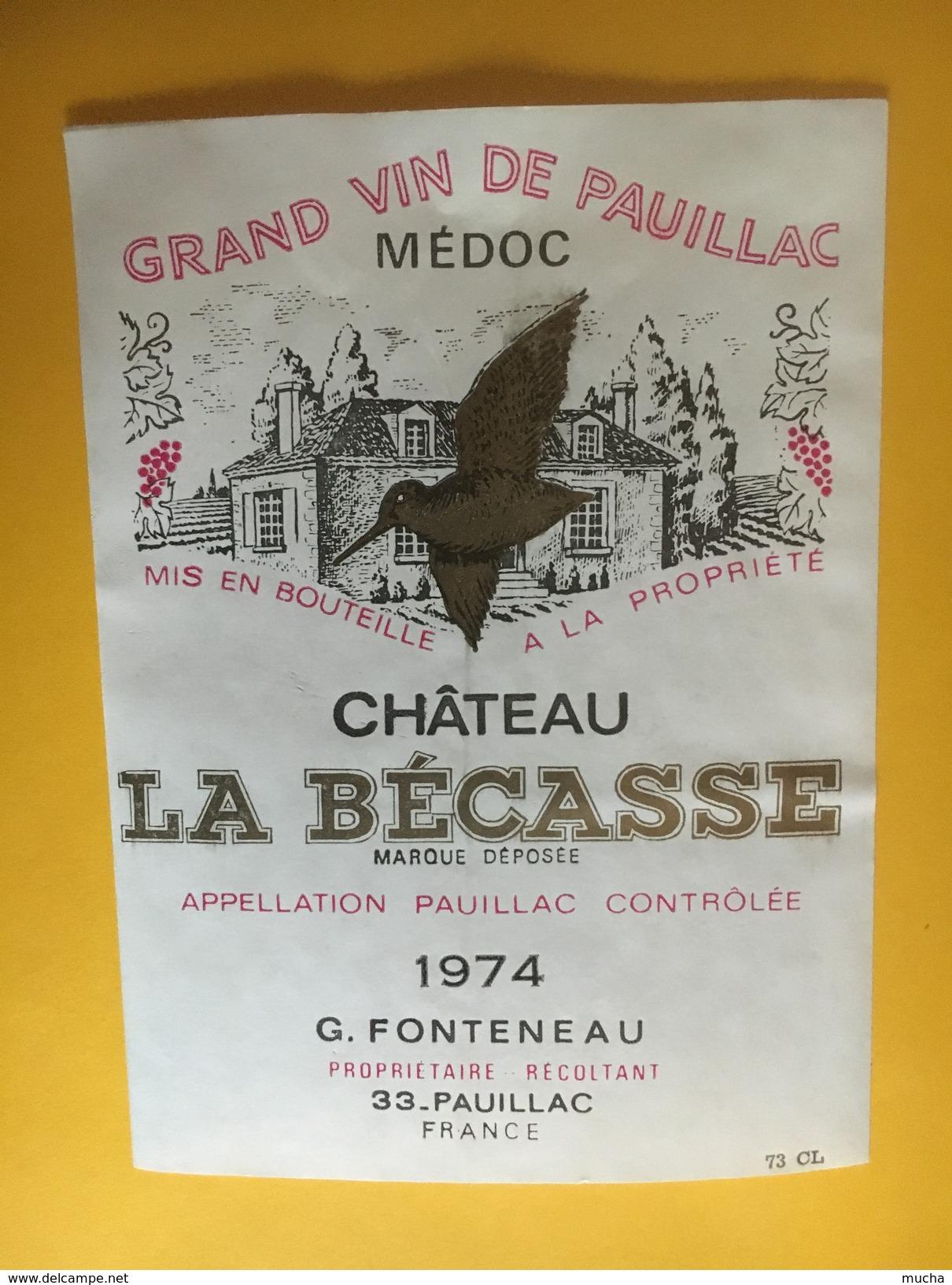 6069 -  Château La Bécasse 1974 Pauillac - Bordeaux