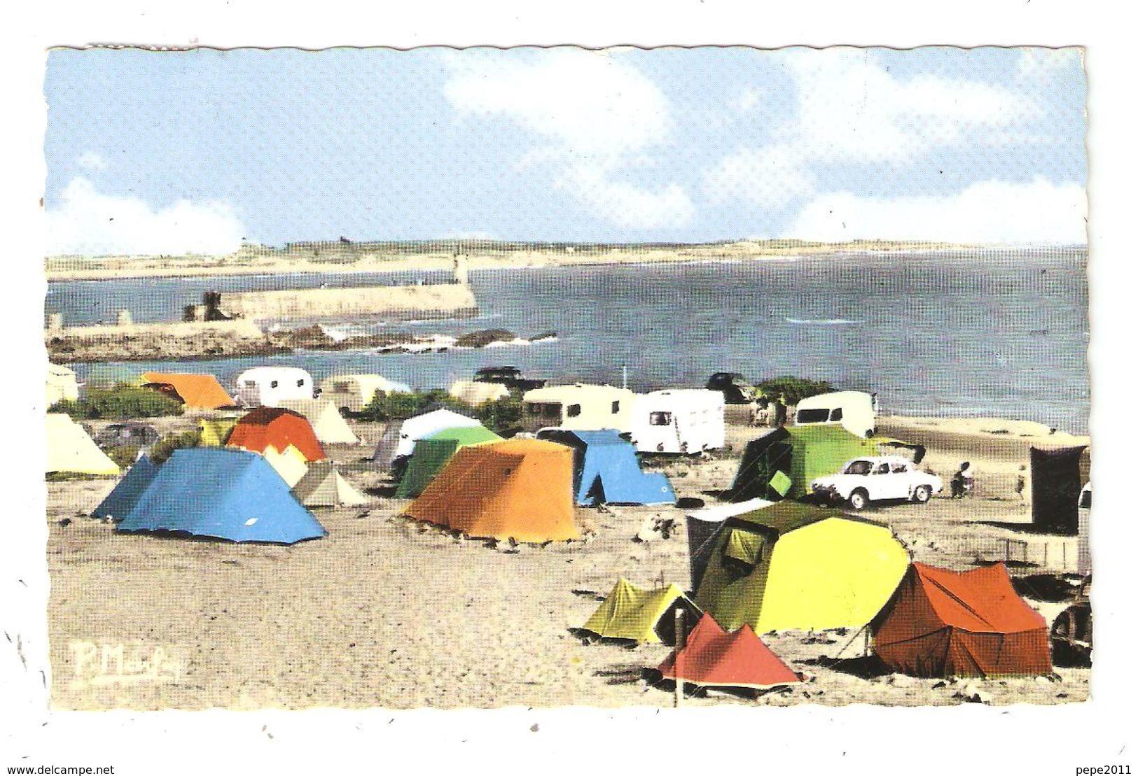 CPAS 85 SABLES D'OLONNE La Chaume Le Camp De La Mer Plage Jetée Tentes Caravanes 1970 - Sables D'Olonne