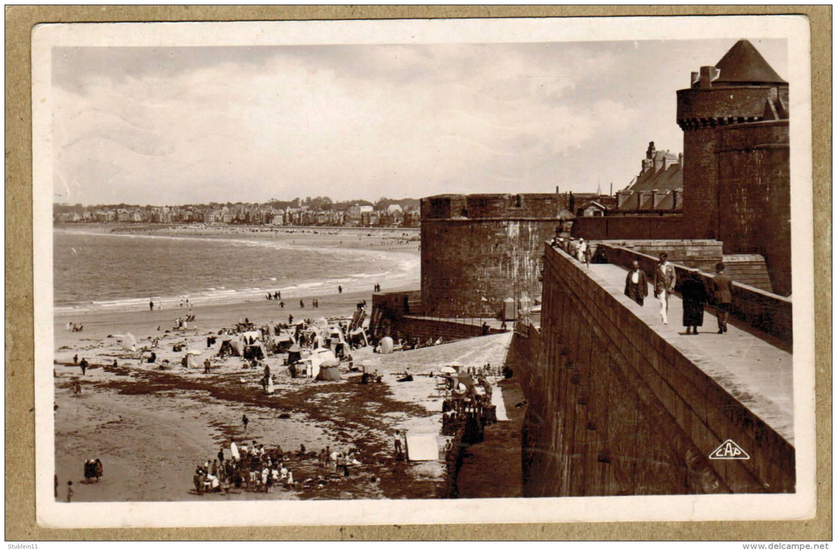 Saint-Malo (Ille-et-Vilaine) Les Remparts               (CPSM, Bords Droits, Format 9 X 14) - Saint Malo