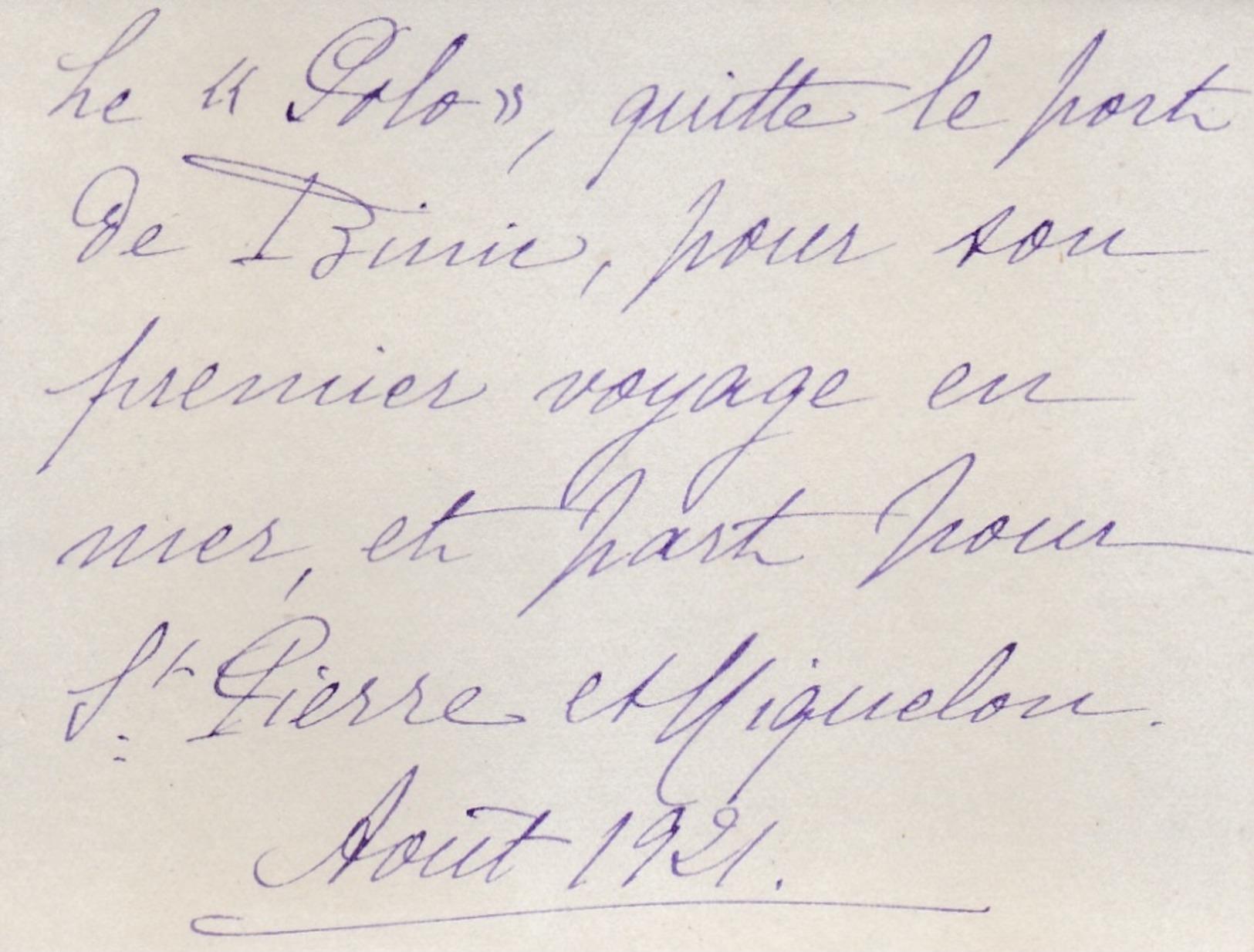 BINIC  SAINT PIERRE ET MIQUELON 1921 - Très Rare Photo Du '' POLO '' Partant Pour La Campagne Des Morues - Bateaux
