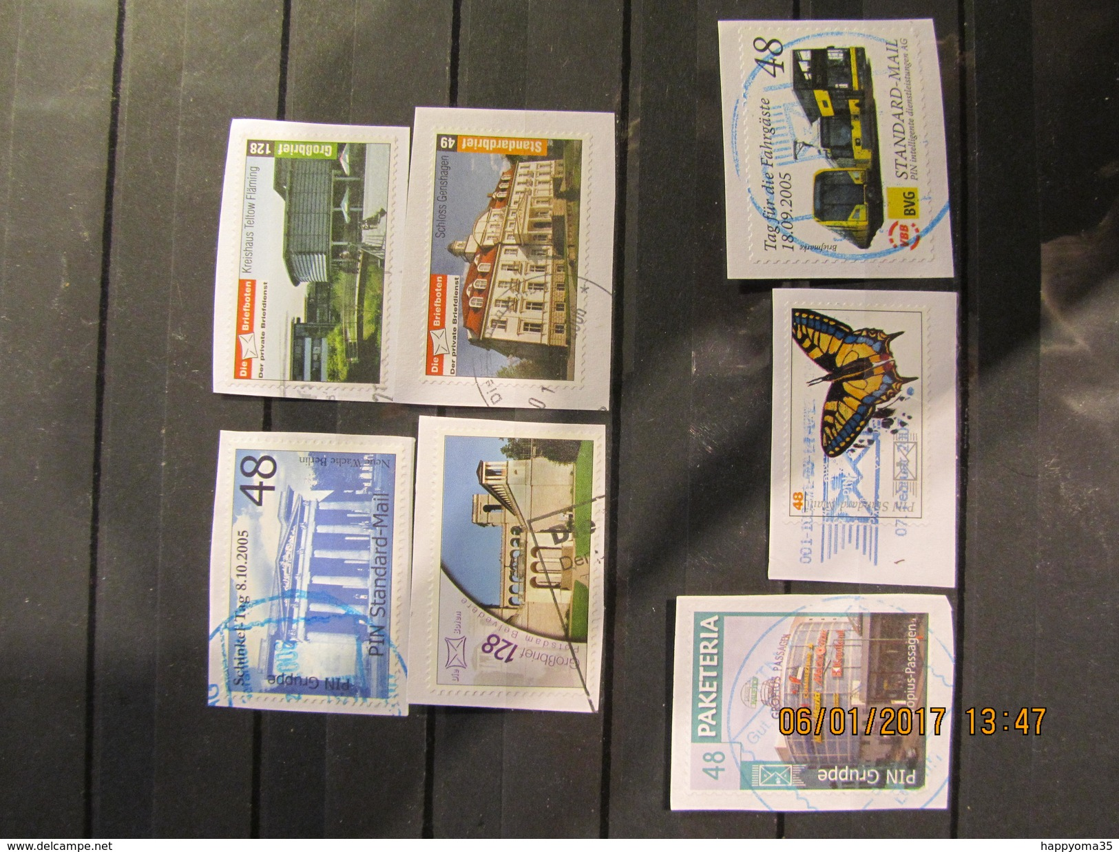 Deutschland  Mix Set Stamps Of Germany Allemagne Small Selection Of Fine Used Stadtpost 113 - Privé- & Lokale Post