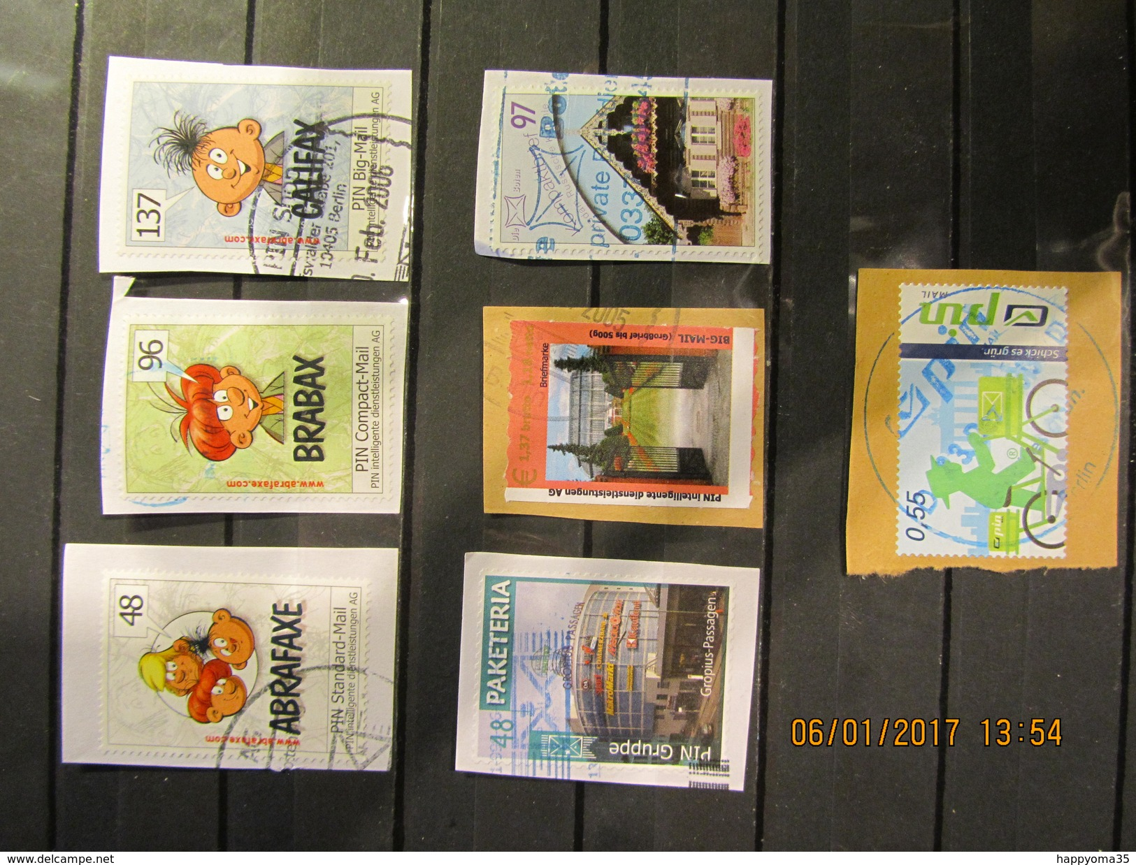 Deutschland  Mix Set Stamps Of Germany Allemagne Small Selection Of Fine Used Stadtpost 120 - Privé- & Lokale Post