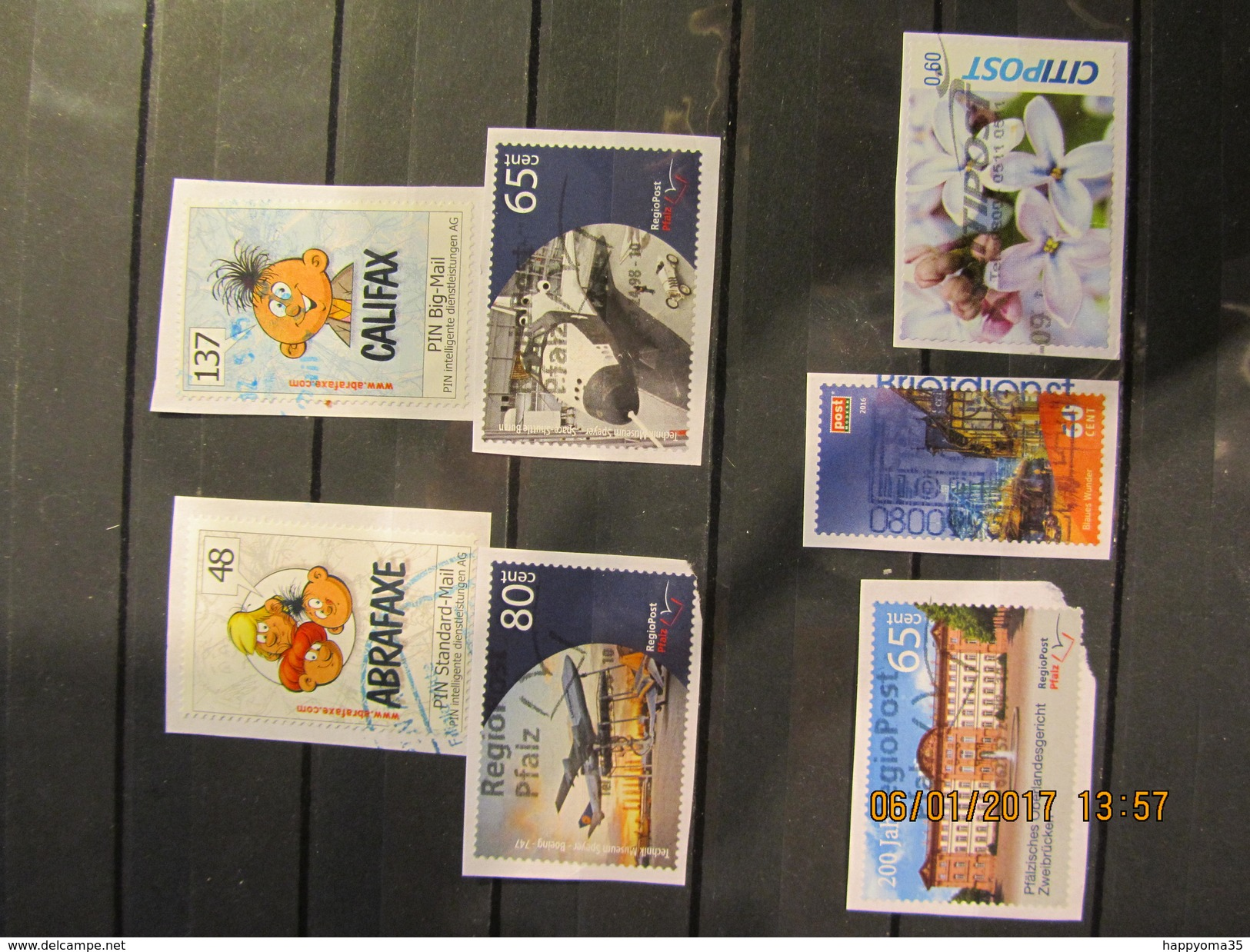 Deutschland  Mix Set Stamps Of Germany Allemagne Small Selection Of Fine Used Stadtpost 122 - Privé- & Lokale Post