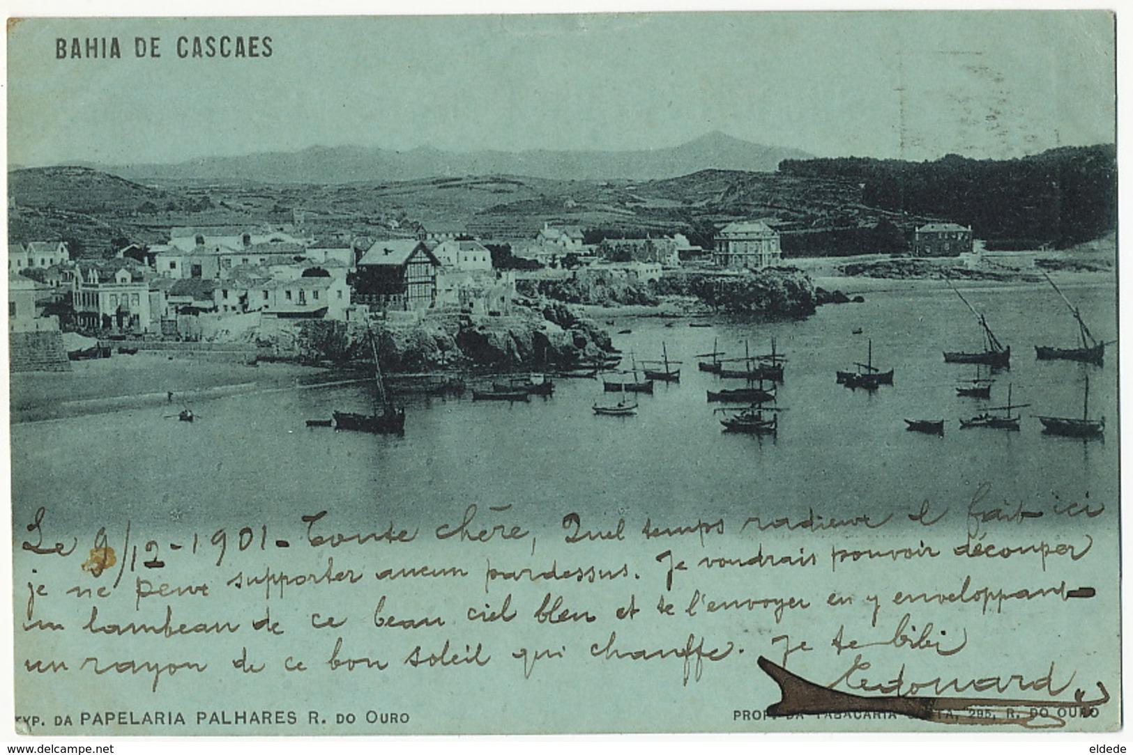 Bahia De Cascaes  Edit Papelaria Palhares  P. Used 1901 To Villejuif - Autres