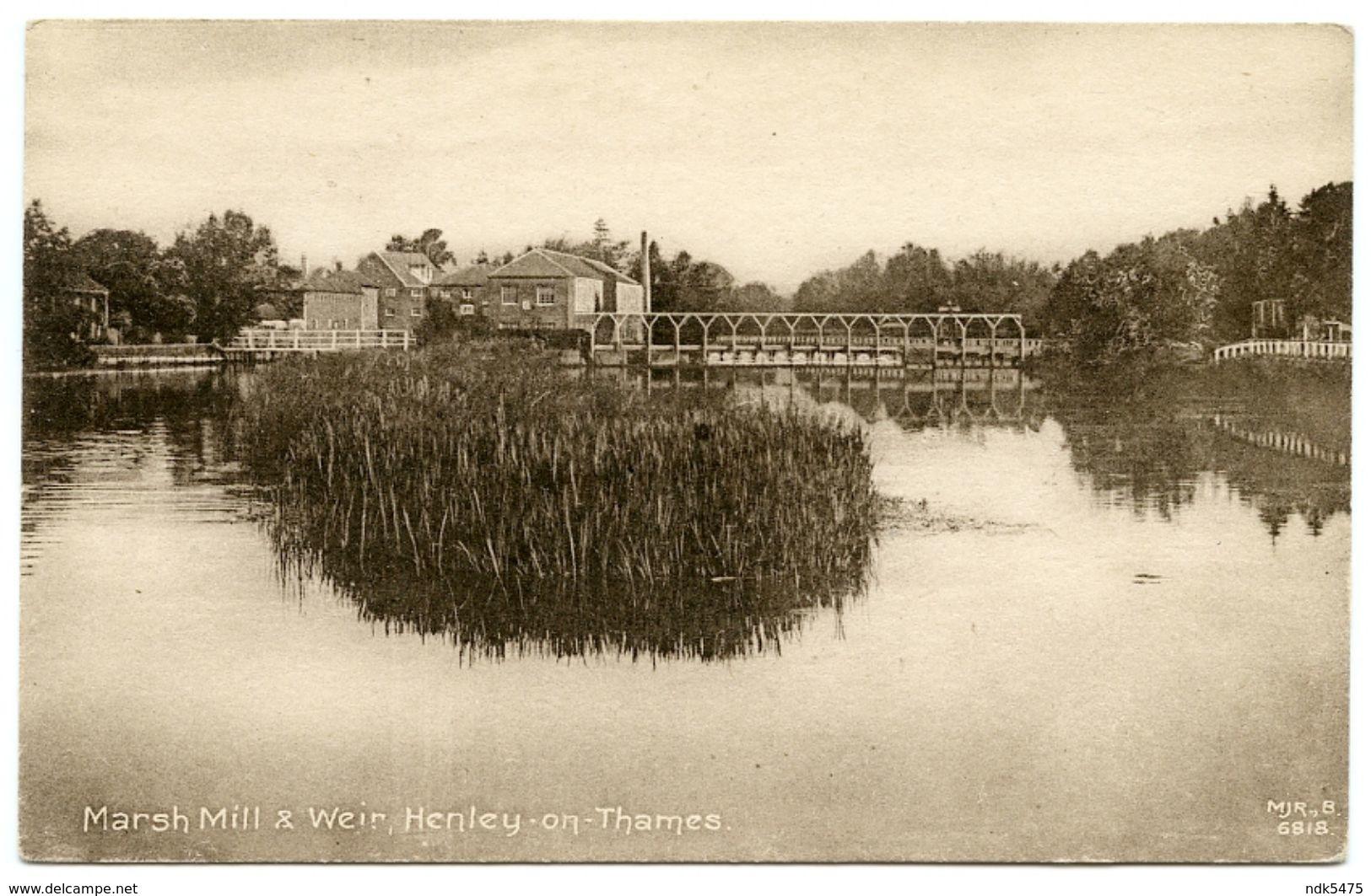 HENLEY ON THAMES : MARSH MILL & WEIR - England