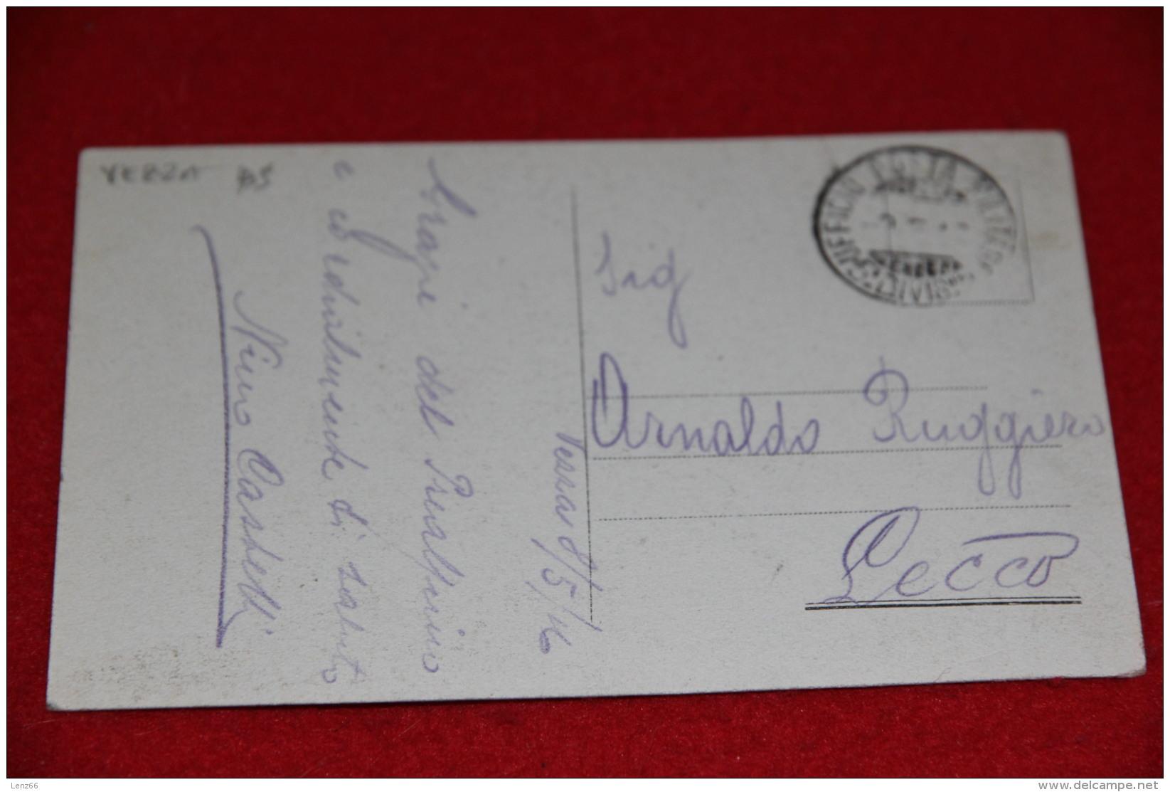 Vezza Brescia Una Cascata 1916 + Timbro Militare Militaire 5° Divisione - Brescia