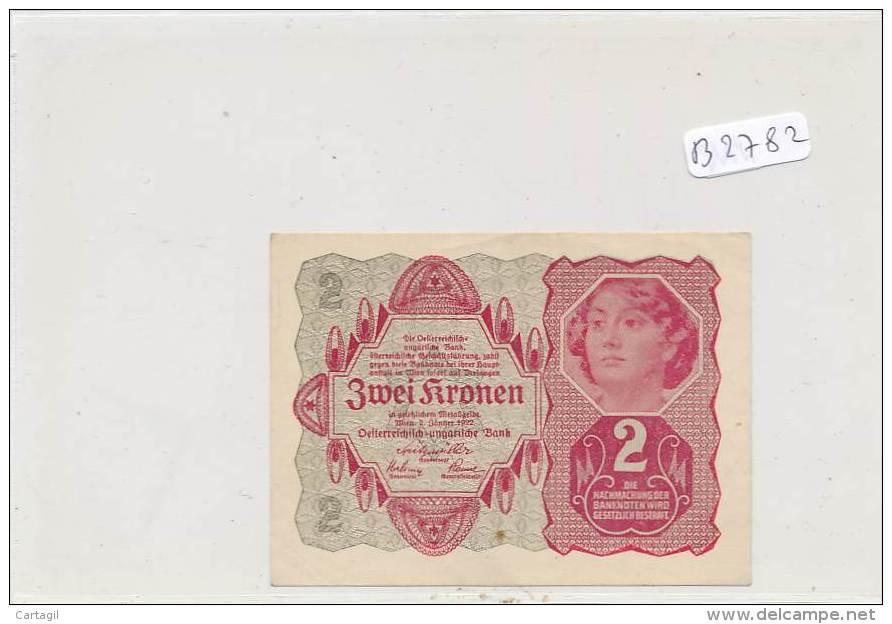 Billets - B2782-Autriche Hongrie - Zwei Kronen (type, Nature, Valeur, état... Voir  Scan) - Bankbiljetten