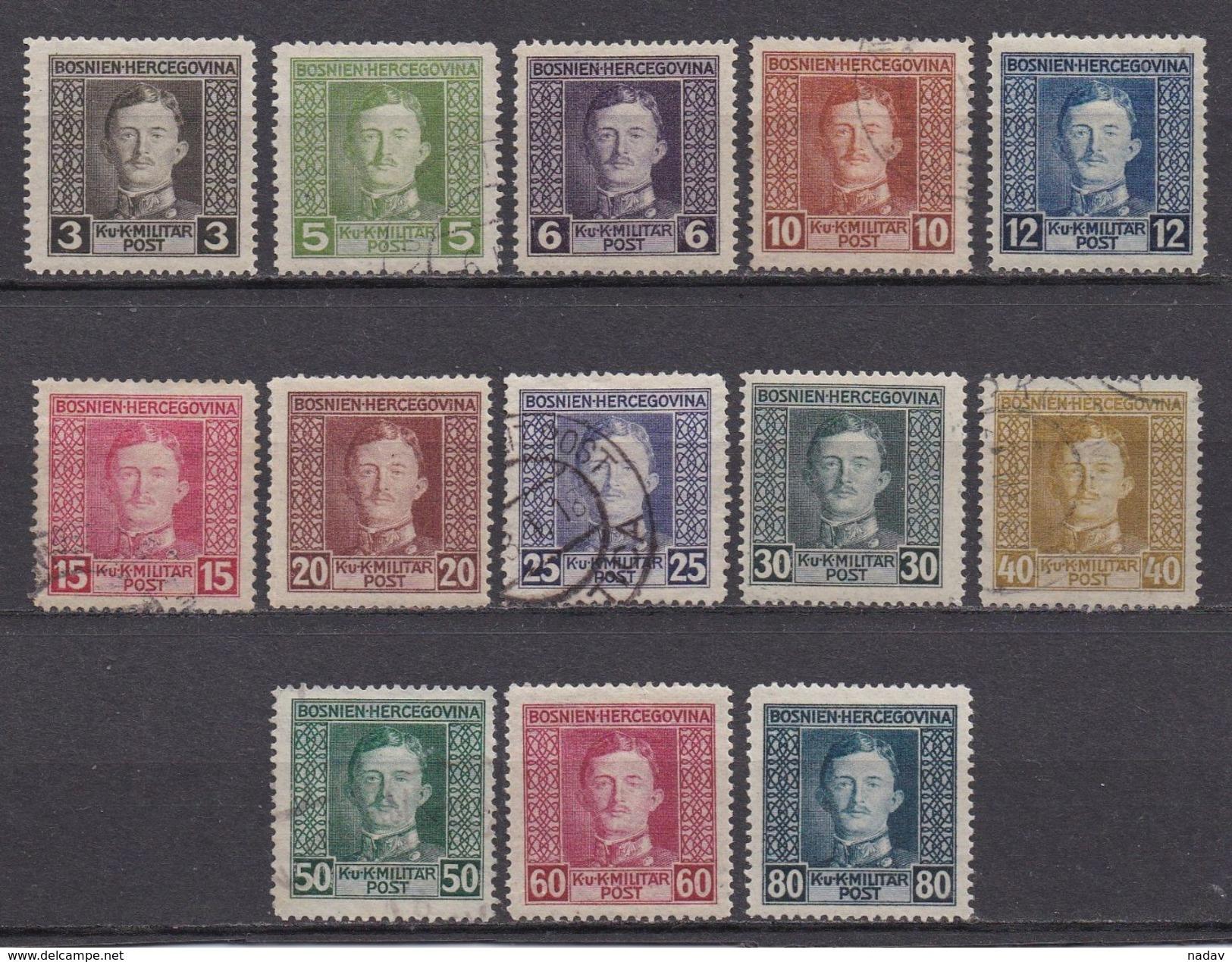 1917, Bosnia And Herzegovina -MH*, Used-014 - Bosnia And Herzegovina