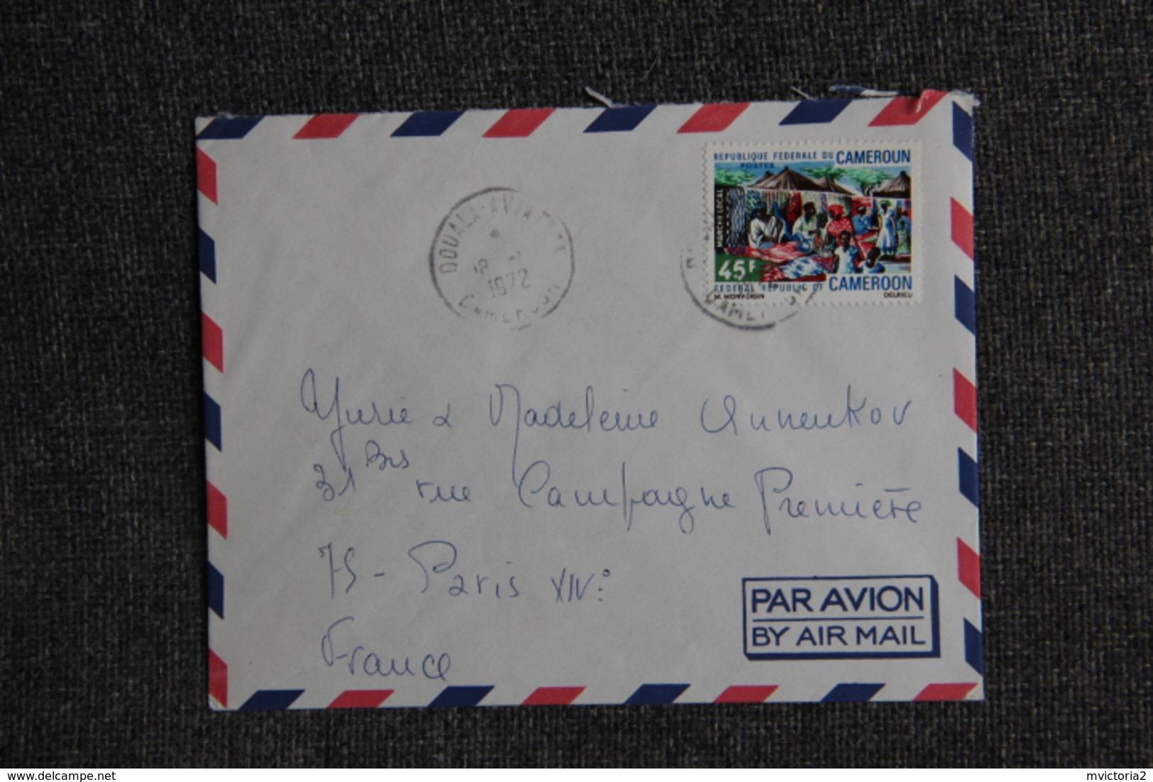 Lettre Du CAMEROUN ( DOUALA) Vers PARIS - Camerun (1960-...)