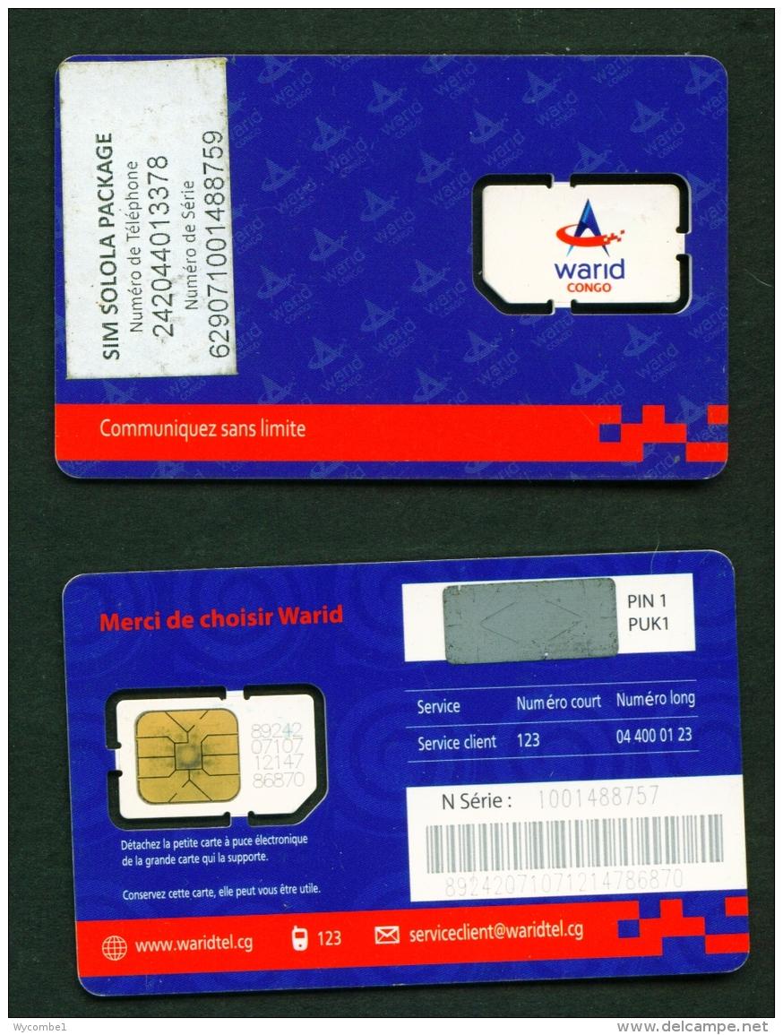 CONGO (BRAZZAVILLE)  -  Mint/Unused SIM  Warid  As Scans - Congo