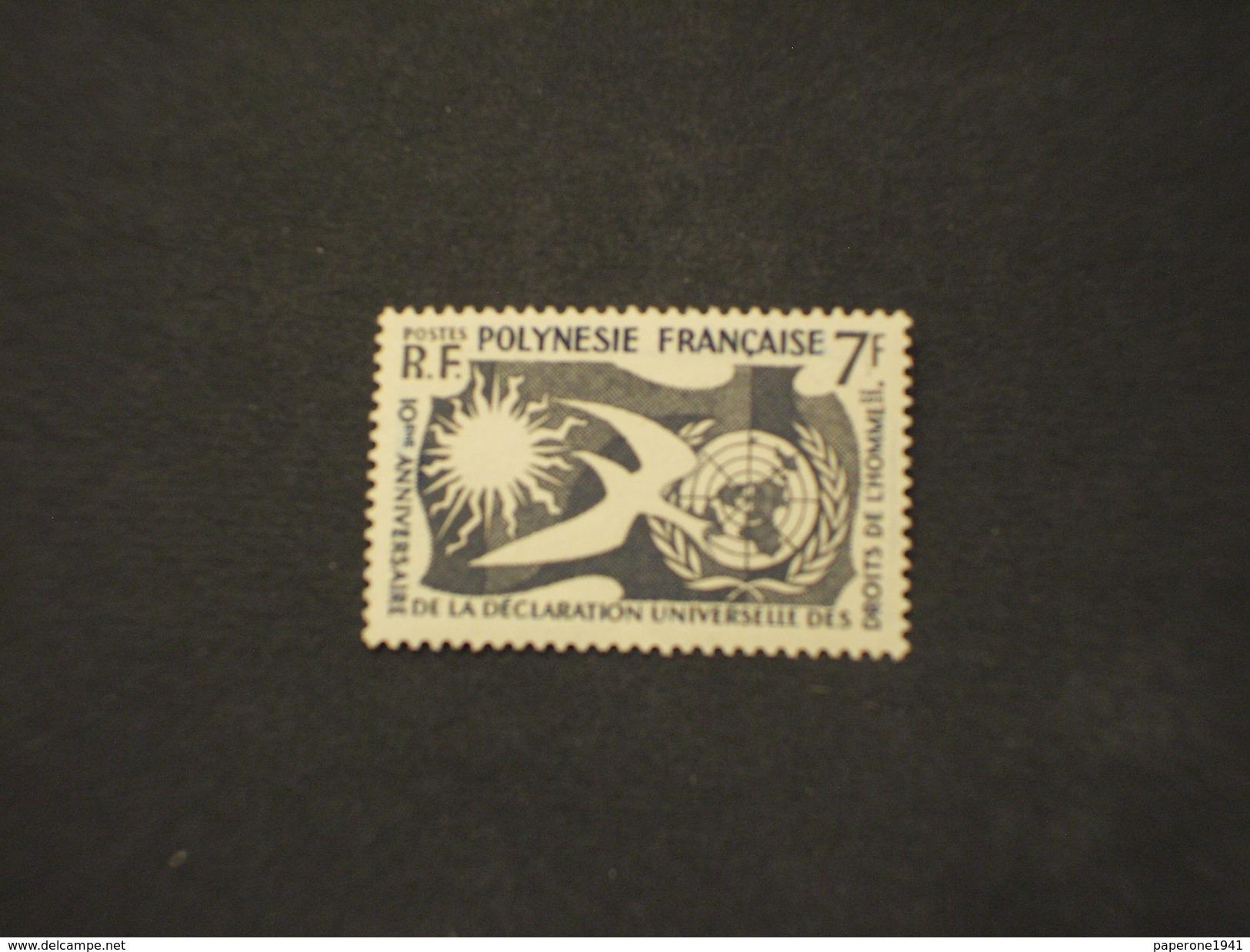 POLINESIA 1958 DIRITTI/UCCELLO - NUOVO(++) - Nuovi