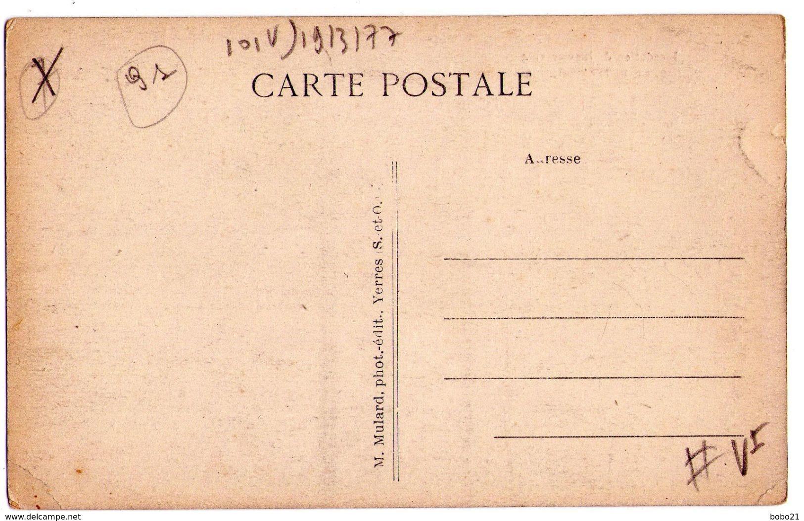 D81 - Inondation De Janvier 1924 N°10 - Le Petit Crosnes ( M.Mulard Photo édit.Yerres S&O ) - Crosnes (Crosne)