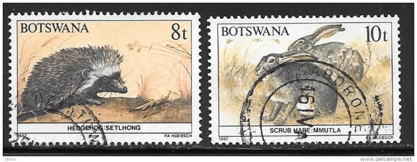 Botswana, Scott # 410-11 Used Wildlife Conservation, 1987 - Botswana (1966-...)