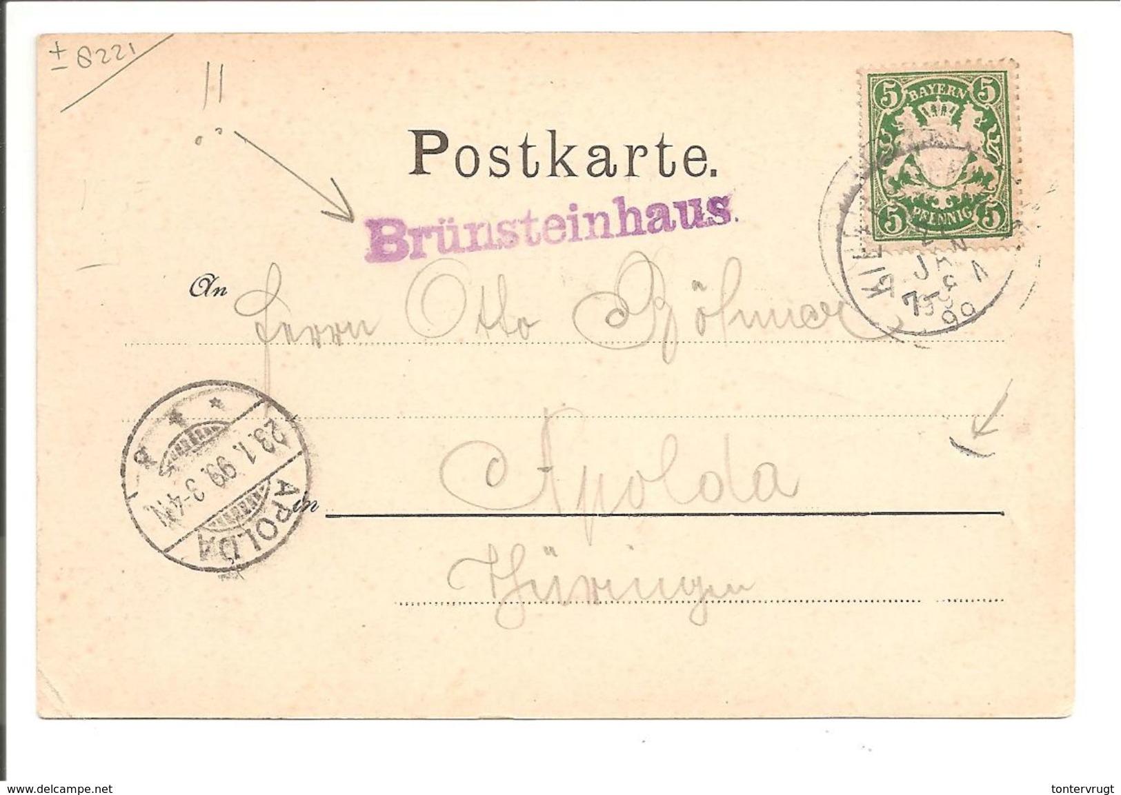 Brünnstein. Gruss Vom Brünnstein. 5 Photo's U.a. BRÜNNSTEINHAUS. HÜTTENSTEMPEL BRÜNNSTEINHAUS  VIOLET - Sonstige