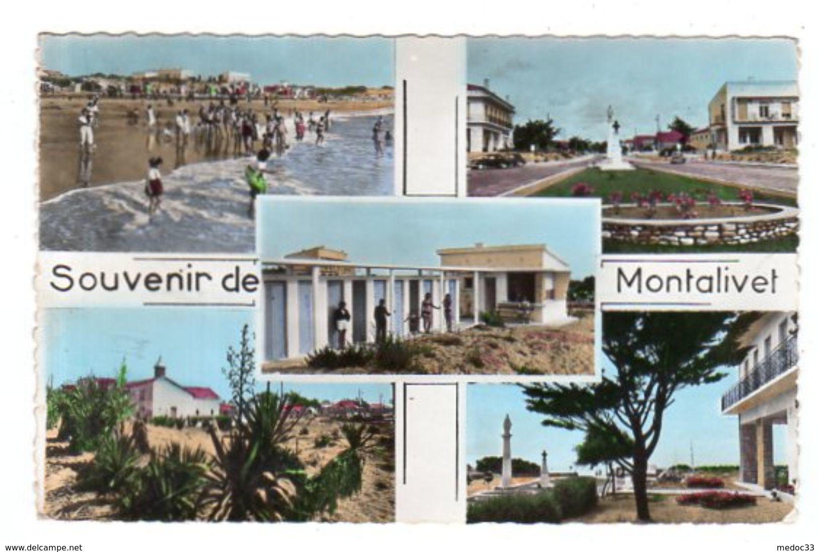 Dept 33,Gironde,Cpsm Souvenir De Montalivet - France