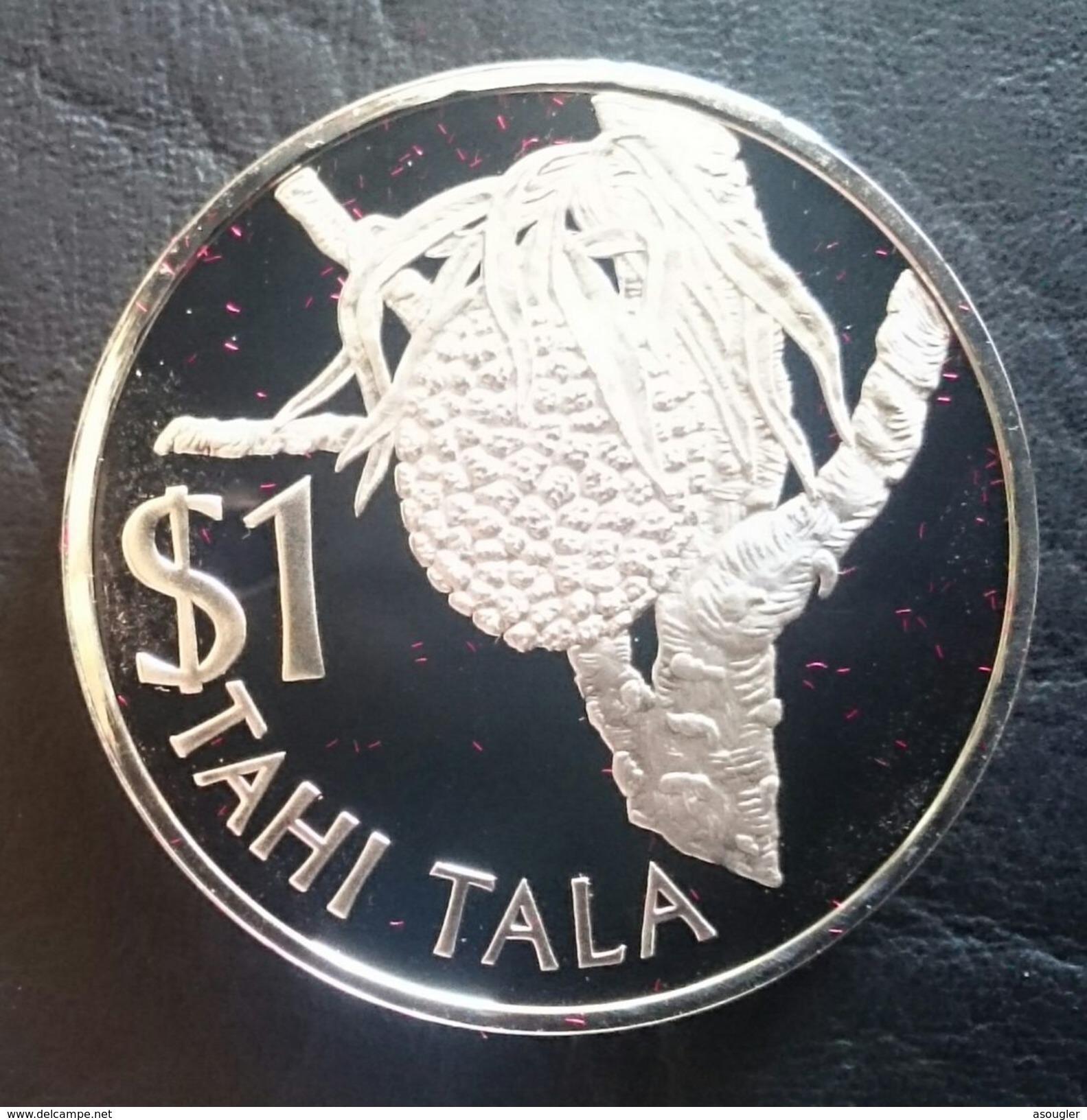 "TOKELAU 1 TALA 1978 SILVER PROOF ""Coconu"" Free Shipping Via Registered Air Mail - Monnaies"