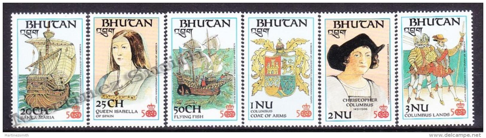 Bhutan - Bhoutan 1987 Yvert 756- 61, 500th Anniversary Christopher Columbus - MNH - Bhoutan