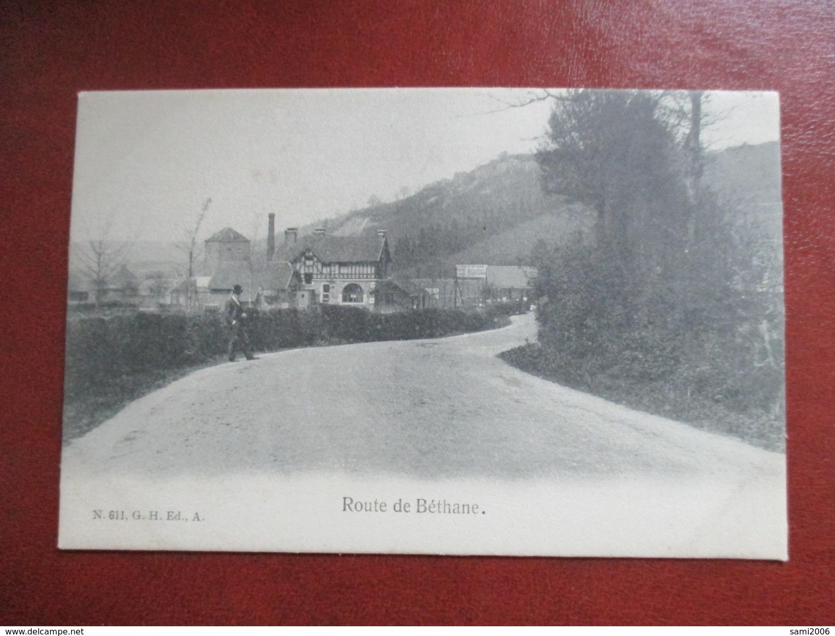 CPA BELGIQUE ROUTE DE BETHANE ANIMEE - Limbourg
