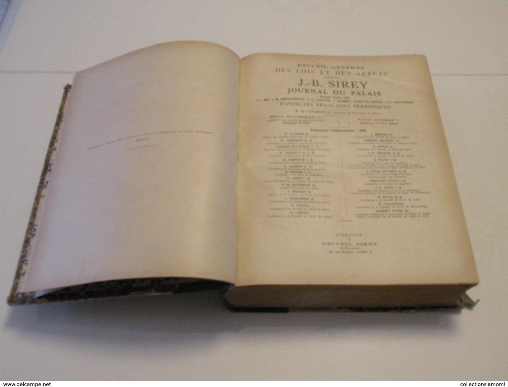 J.B. Sirey > Recueil Des Lois Et Des Arrêts Fondé En 1938 > Journal Du Palais Pandectes Françaises Périodiques - Droit