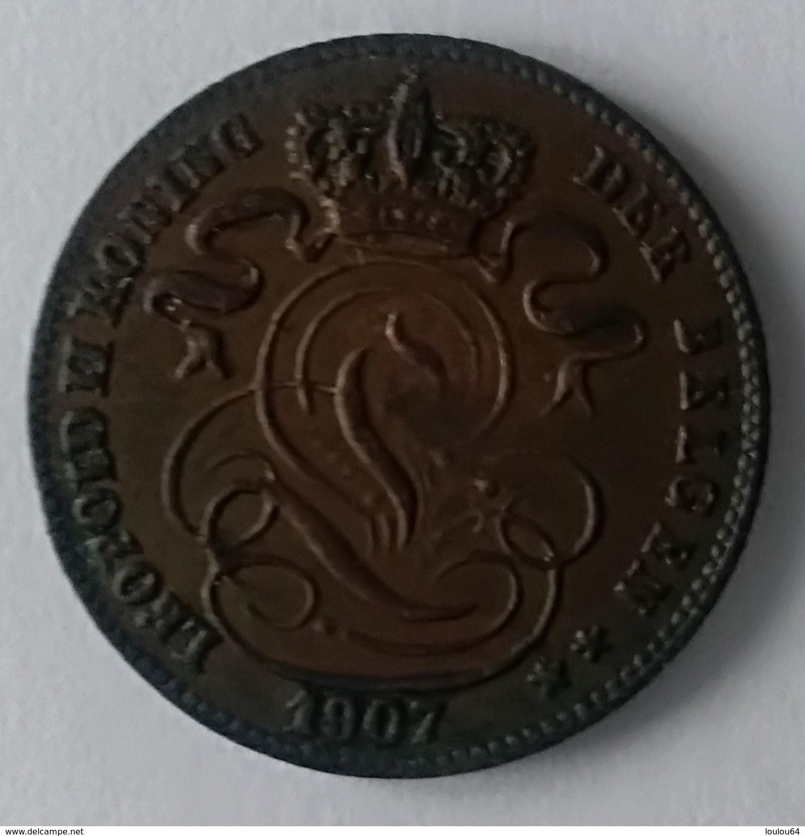 1 CENTIME 1907 - LEOPOLD II - SUPERBE - - 1865-1909: Leopold II