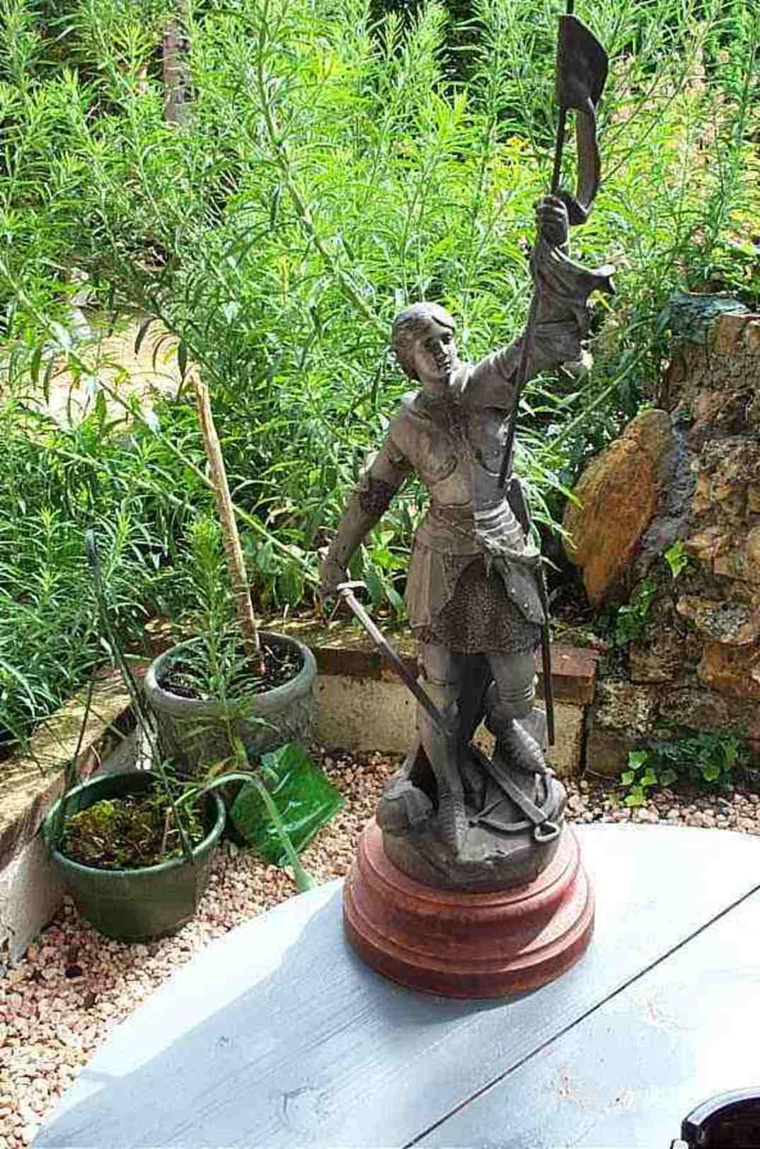Jeanne D Arc Au Combat Par Barthoz - Esculturas