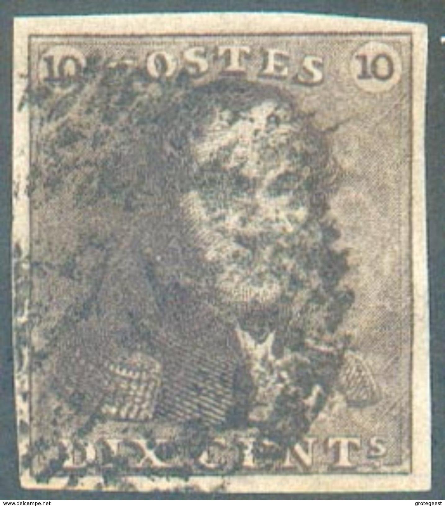 N°1 - Epaulette 10 Centimes Brune, Marge énormes, Oblitéré.  Superbe   - 12312A  VL1099 - 1849 Epaulettes