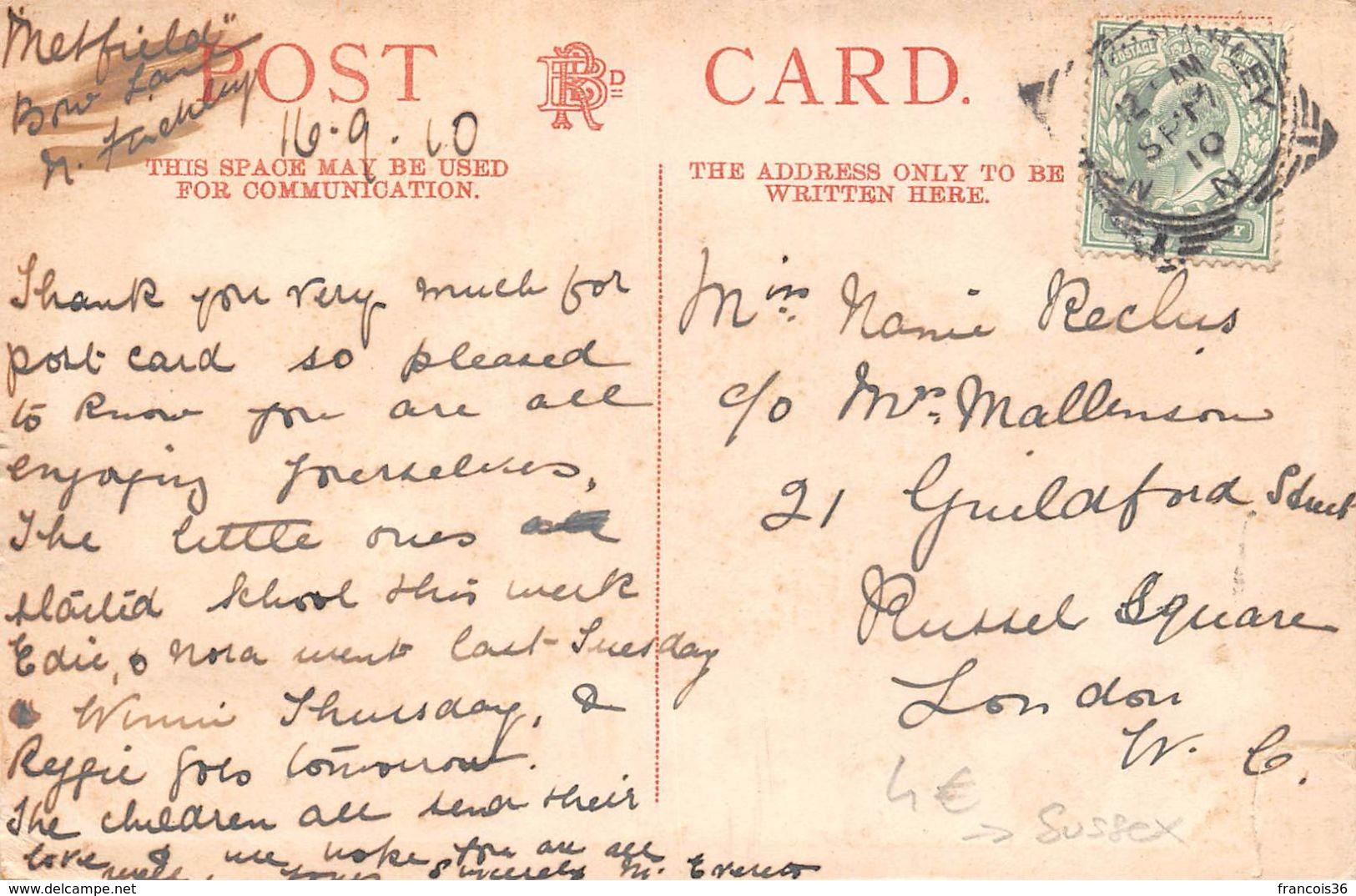 Angleterre - Worthing - East Parade - Boulevard Est 1910 - Worthing