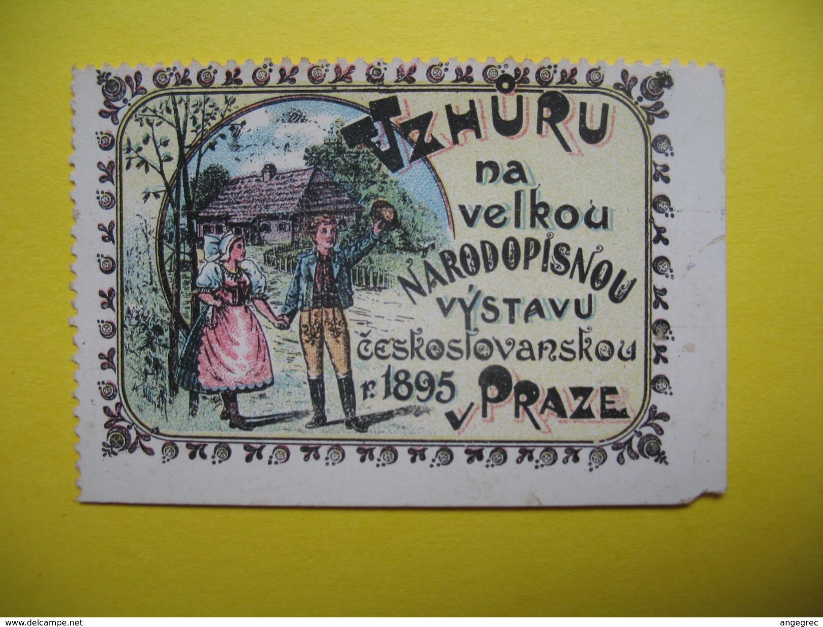 Vignette    Vzhuru Na Velkou Narodopisnou Vystavu Ceskoslovakou 1895  Praze - Erinnophilie