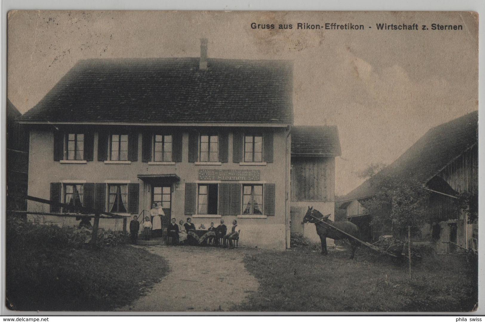 Gruss Aus Rikon-Effretikon - Wirtschaft Zum Sternen - Animee - ZH Zurich