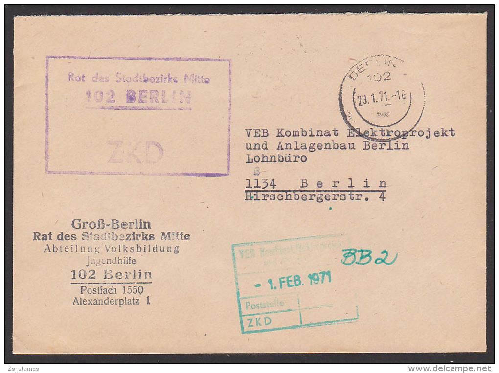 BERLIN Rat Des Stadtbezirkes Mitte Groß-Berlin Volksbildung Zentraler Kurierdienst Der DDR - [6] Oost-Duitsland