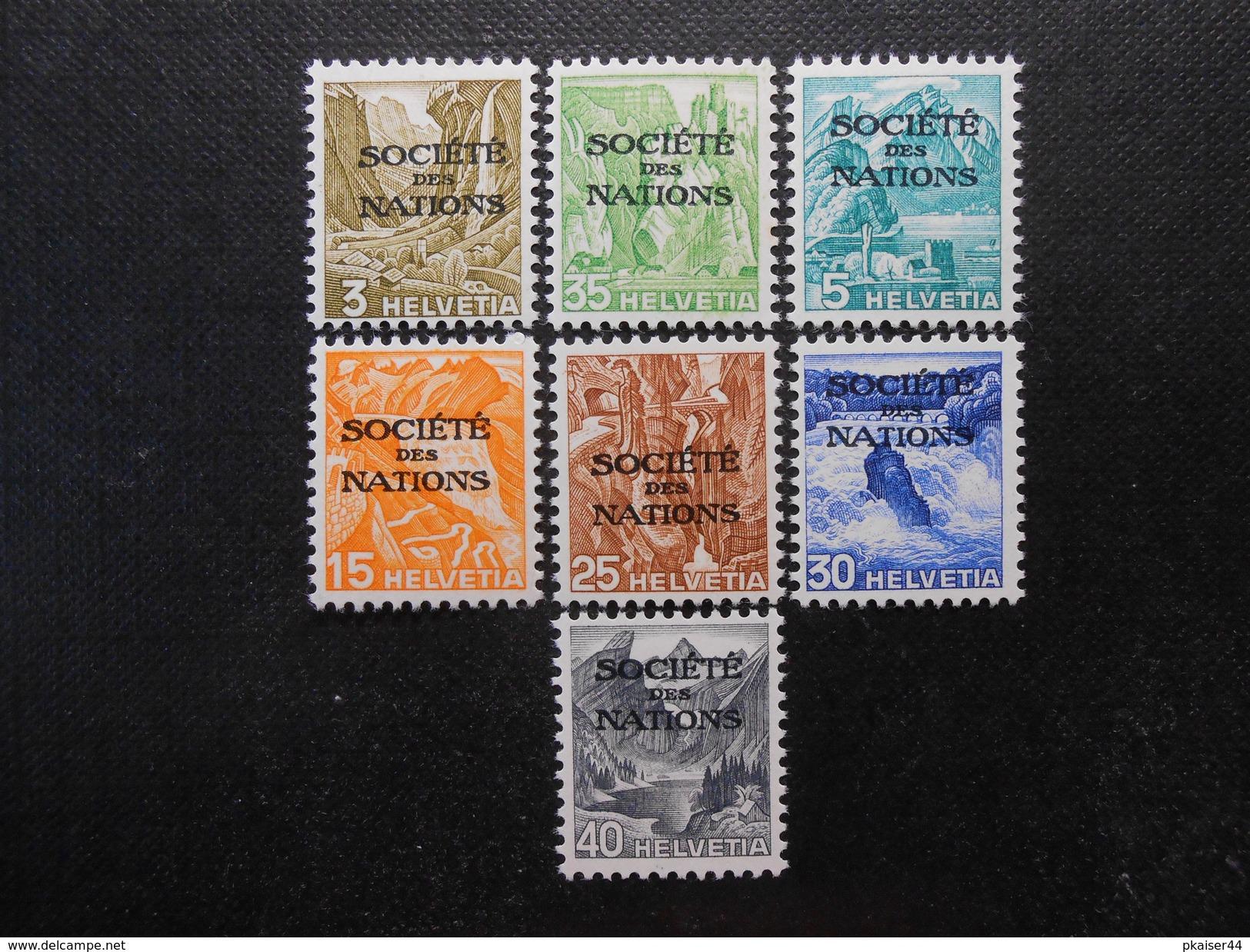 ZNr.47y/48y/50y/52y-55y**/MLH - Völkerbund (Dienstmarken) - SDN  1937  Z CHF 7.75 - Officials