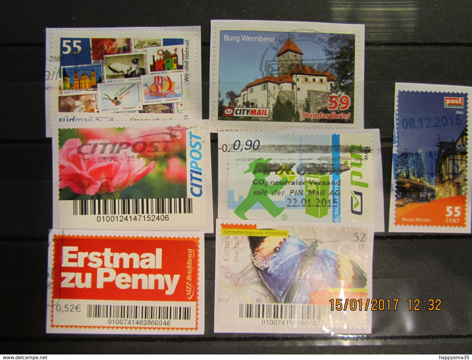 Deutschland  Mix Set Stamps Of Germany Allemagne Small Selection Of Fine Used Stadtpost 266 - Private & Local Mails