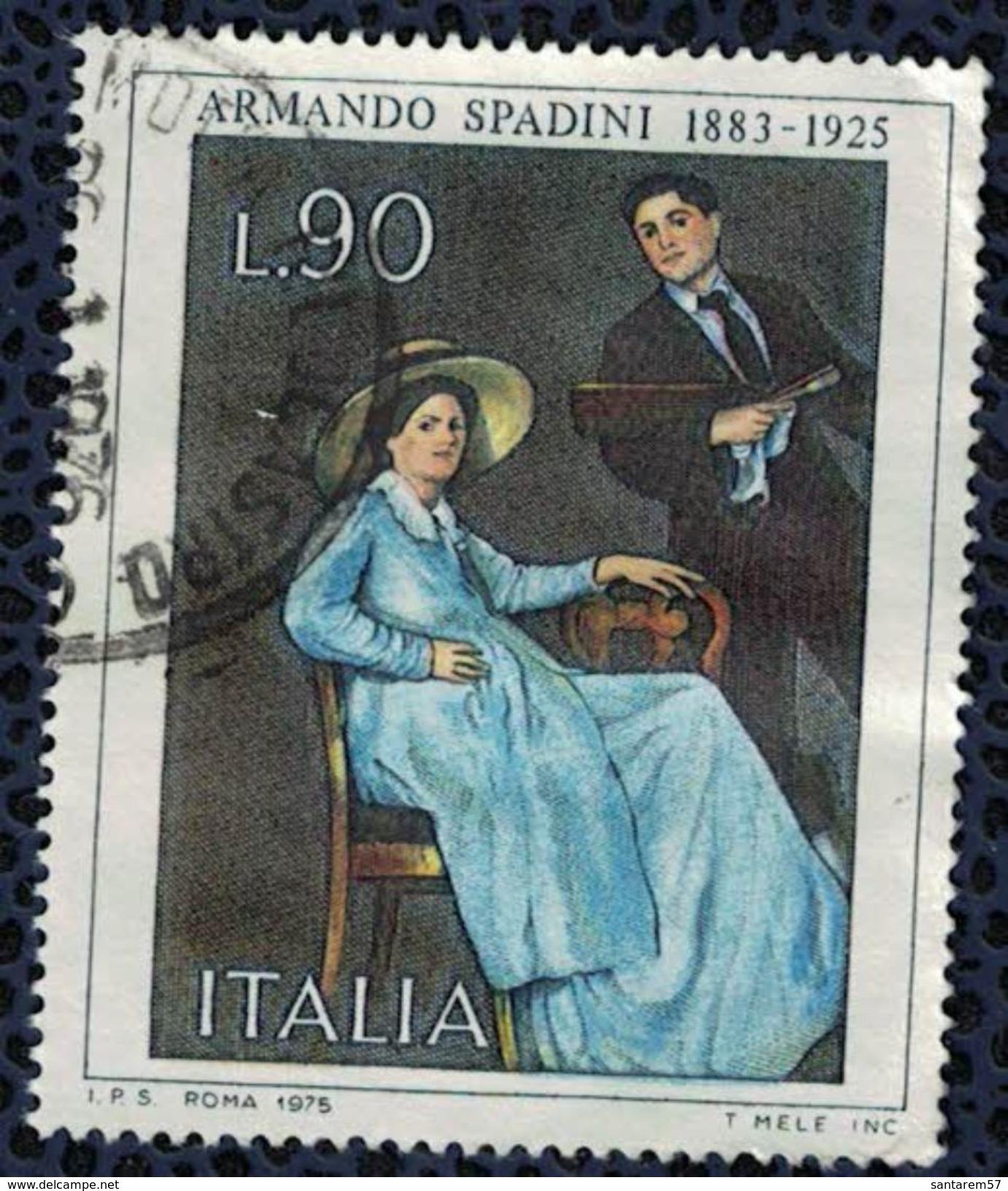 Italie 1975 Oblitéré Used Oeuvre Du Peintre Armando Spadini - 1946-.. République