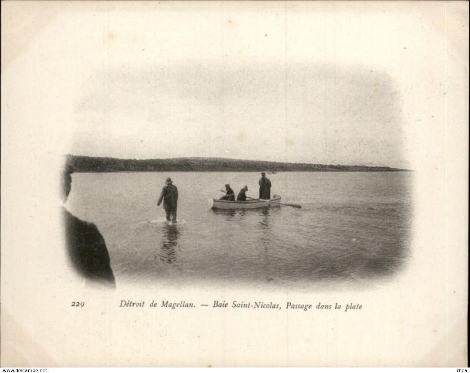 Campagne DUGUAY-TROUIN 1902-1903 - Expédition - Patagonie - Détroit De Magellan - Baie Saint Nicolas - CHILI - Marins - Chili