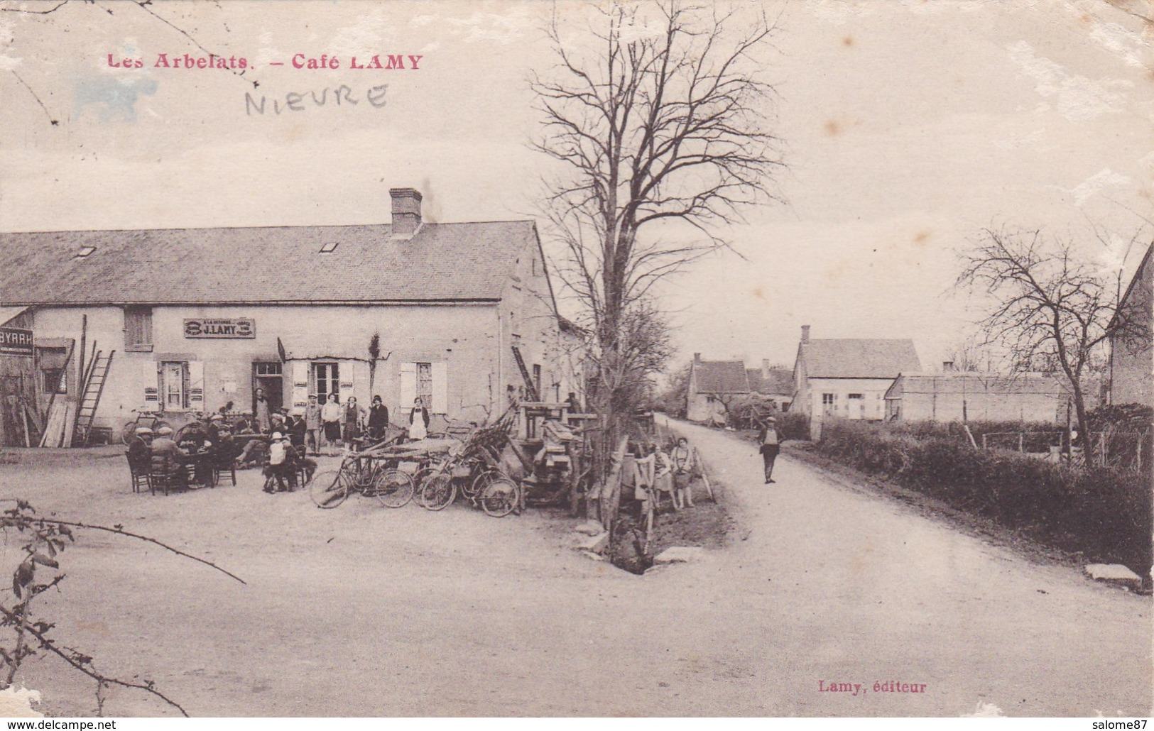 Cpa LES ARBELATS CAFE LAMY - Francia