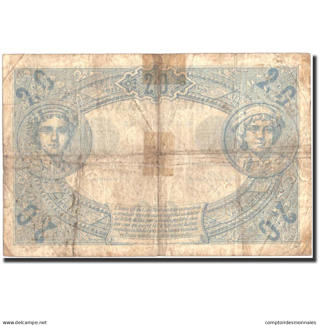 France, 5 Francs, 20 F 1874-1905 ''Noir'', 1874, 1874-09-25, KM:60, TB - 1871-1952 Gedurende De XXste In Omloop