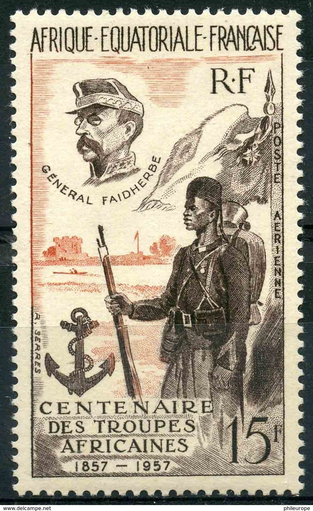 AEF (1957) PA N 62 * (charniere) - A.E.F. (1936-1958)