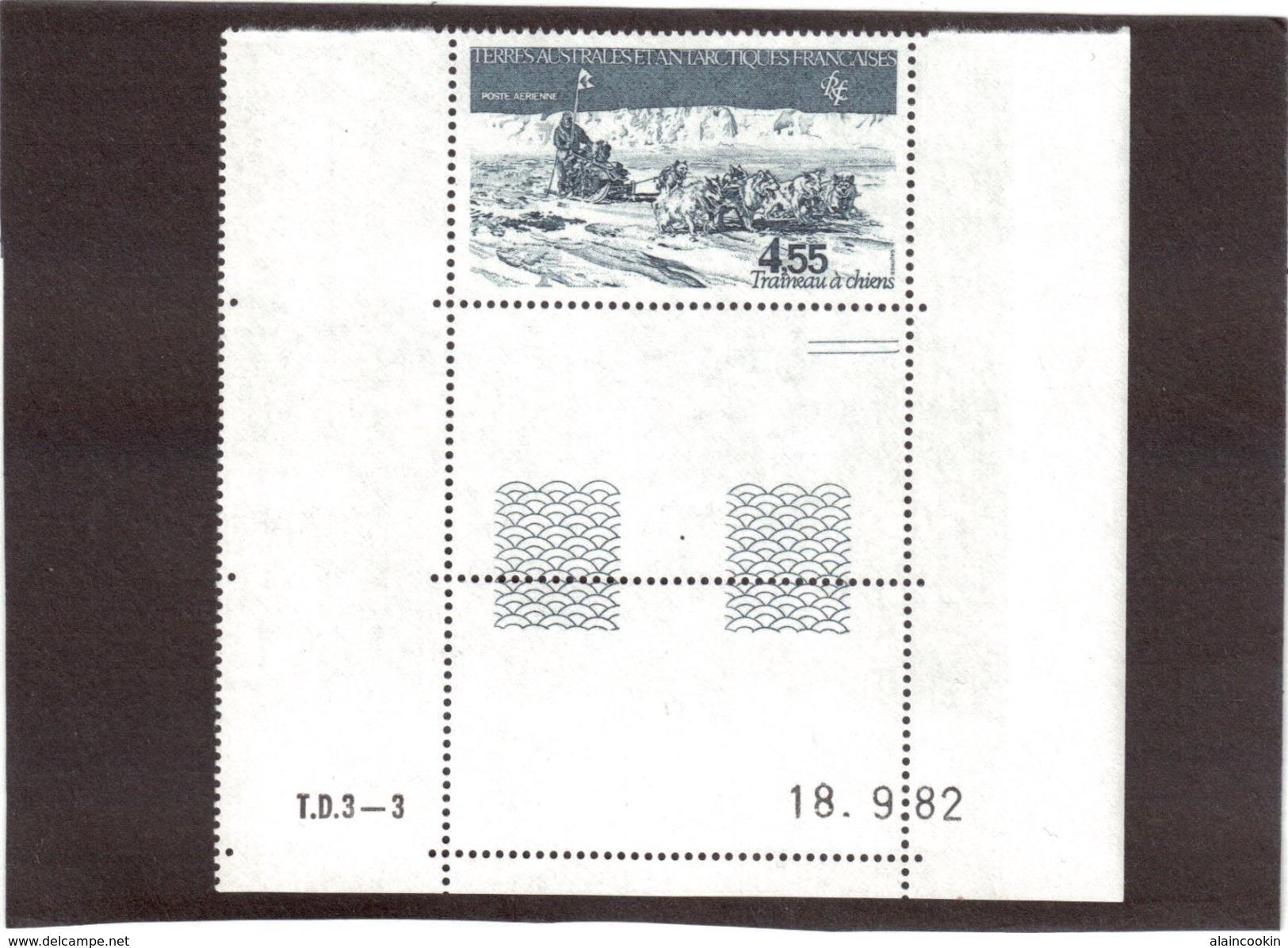 E4 - TAAF Timbre PA 74** De 1982 Traineau à Chiens. Superbe Présentation. - Terres Australes Et Antarctiques Françaises (TAAF)